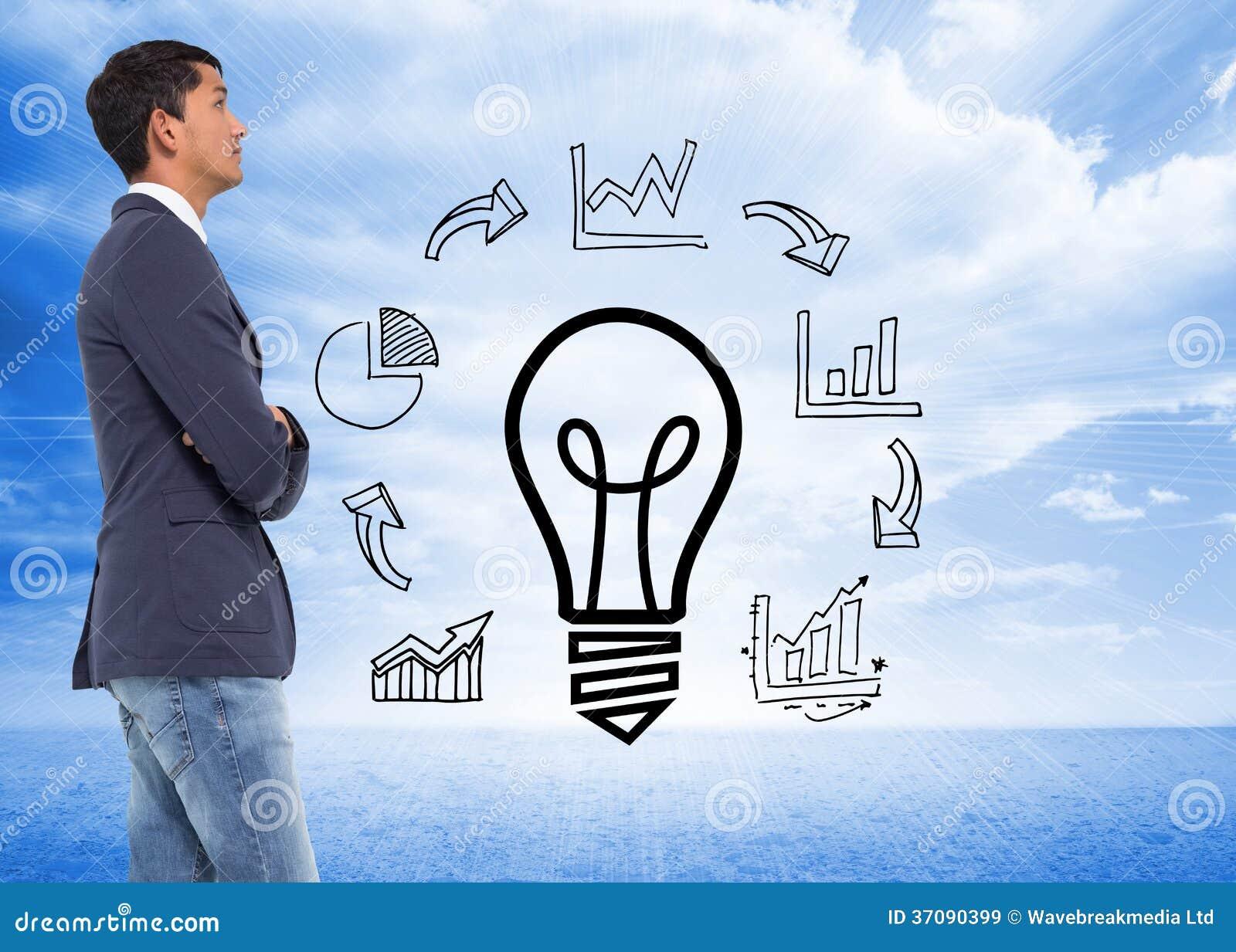 Download Unsmiling Przypadkowy Biznesmen Z Rękami Krzyżować Obraz Stock - Obraz złożonej z arrowed, pomysł: 37090399