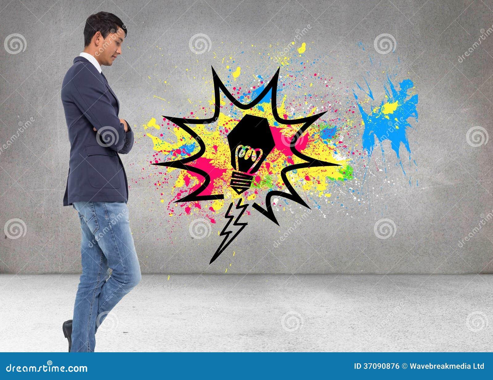 Download Unsmiling Przypadkowy Biznesmen Z Rękami Krzyżować Zdjęcie Stock - Obraz złożonej z biznesmen, profesjonalizm: 37090876