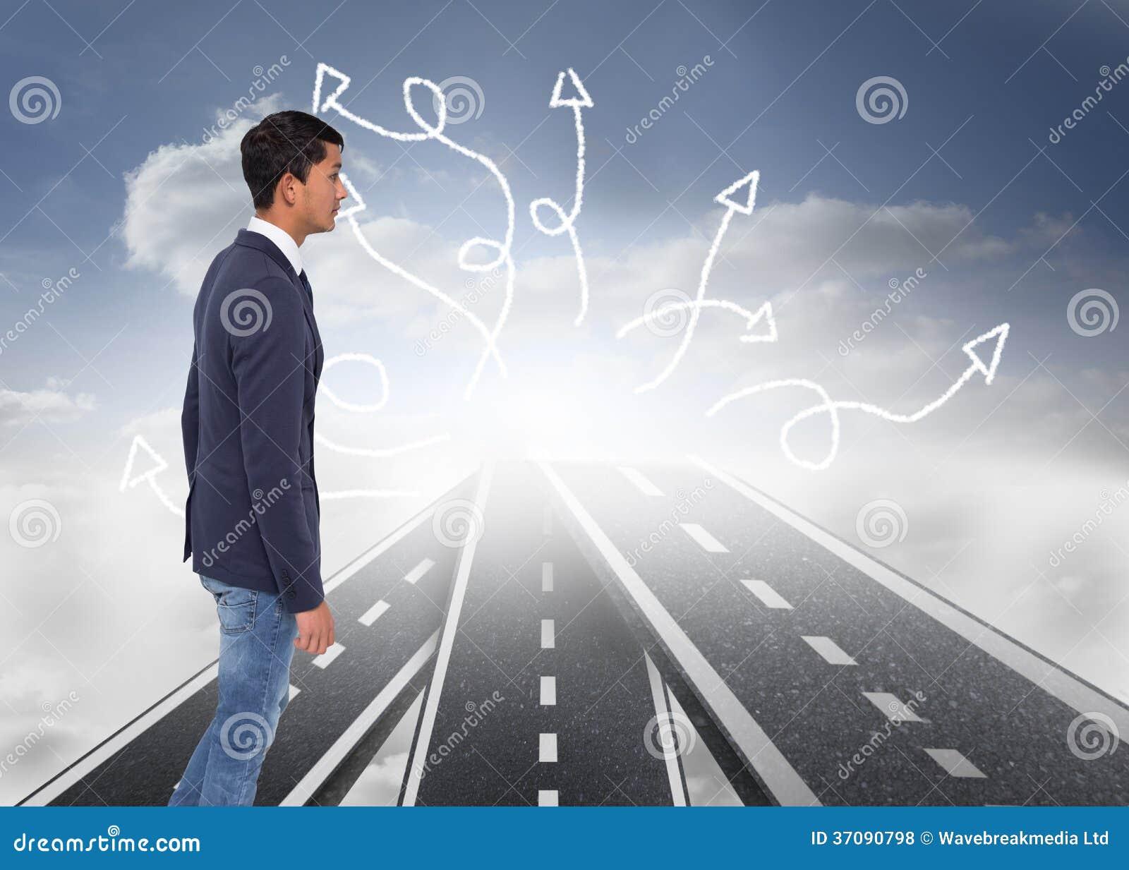Download Unsmiling Przypadkowy Biznesmena Odprowadzenie Zdjęcie Stock - Obraz złożonej z asfalt, czerń: 37090798