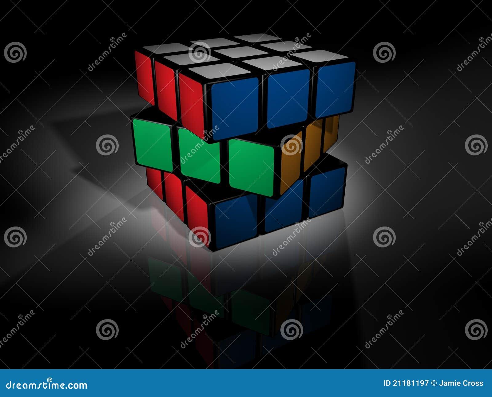 Unsolved rubik s cube on black