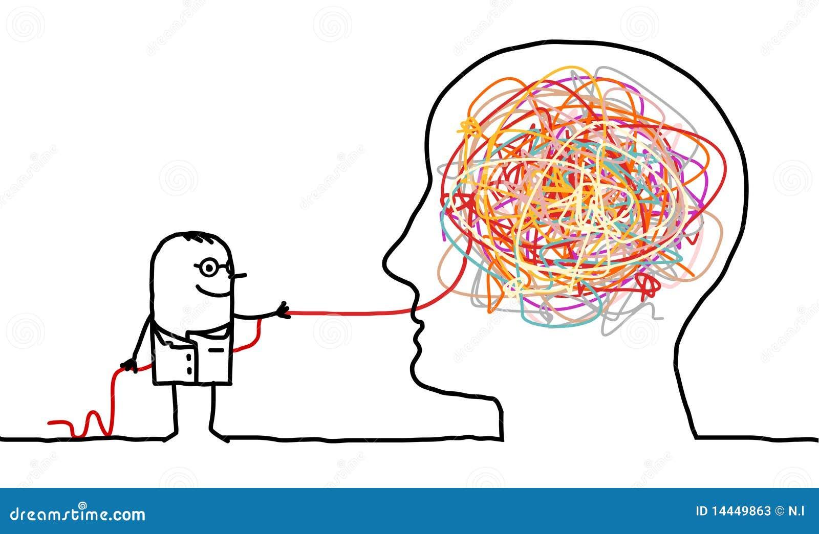 Untangling för fnurra för hjärndoktor
