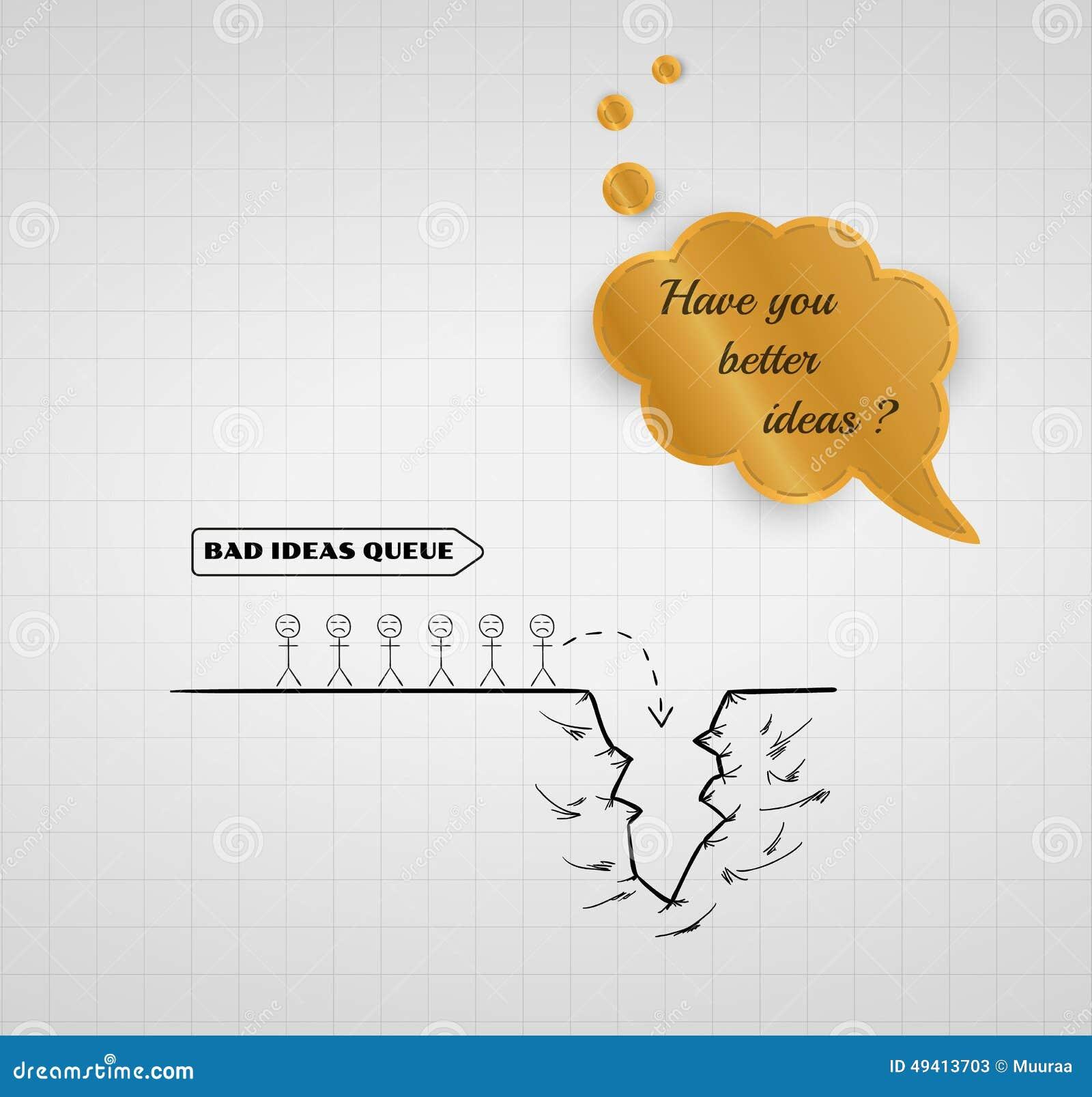 Download Unten Zum Abgrund Mit Schlechten Ideen Stock Abbildung - Illustration von springen, karikatur: 49413703