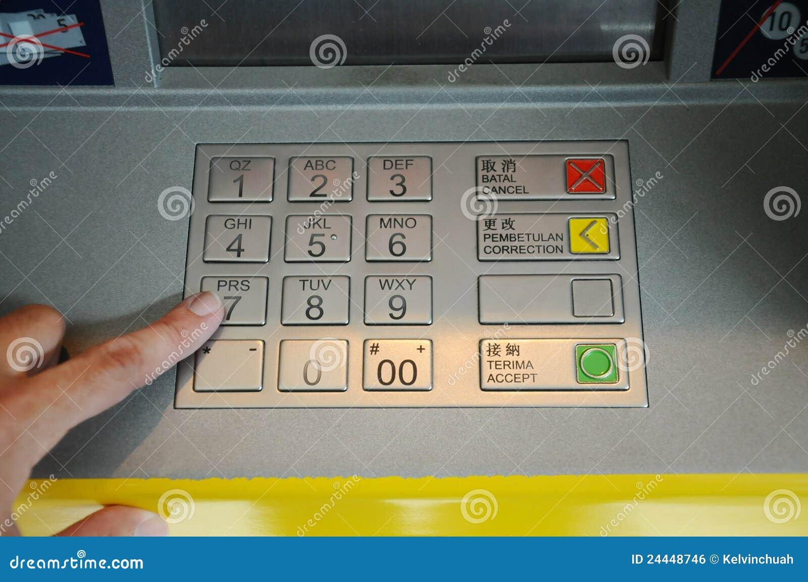 Unter Verwendung Querneigung ATMs