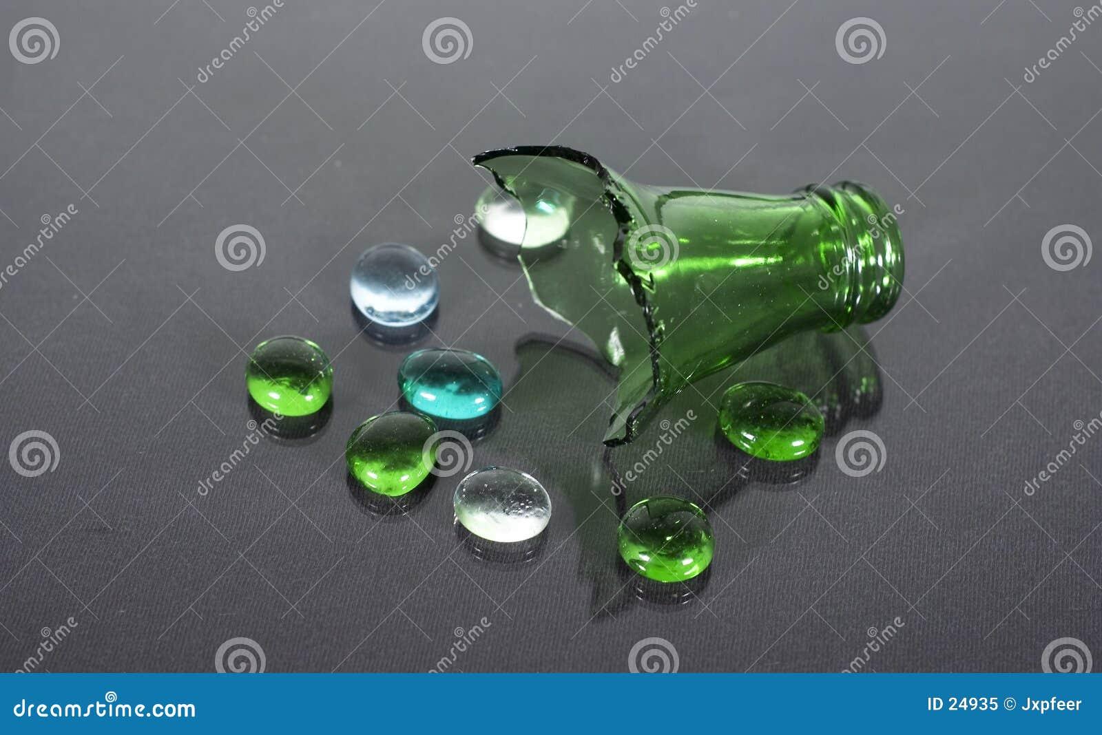 Unterbrochene Flasche