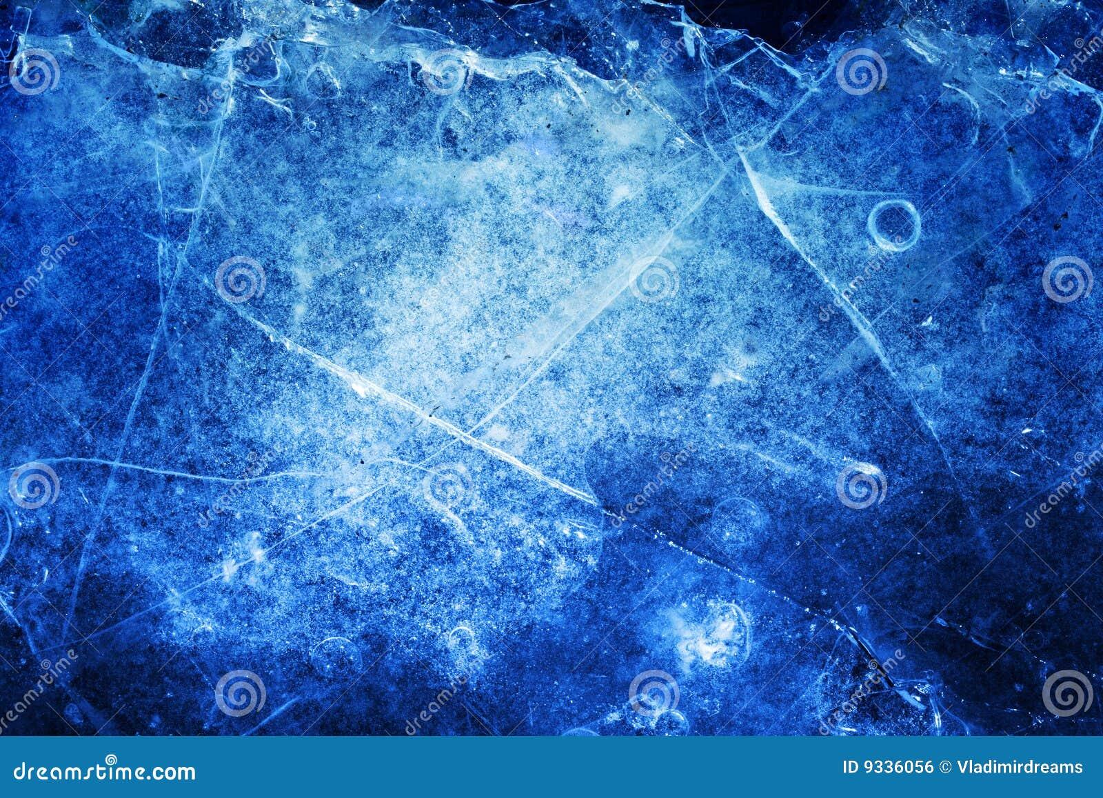 Unterbrochener Eishintergrund