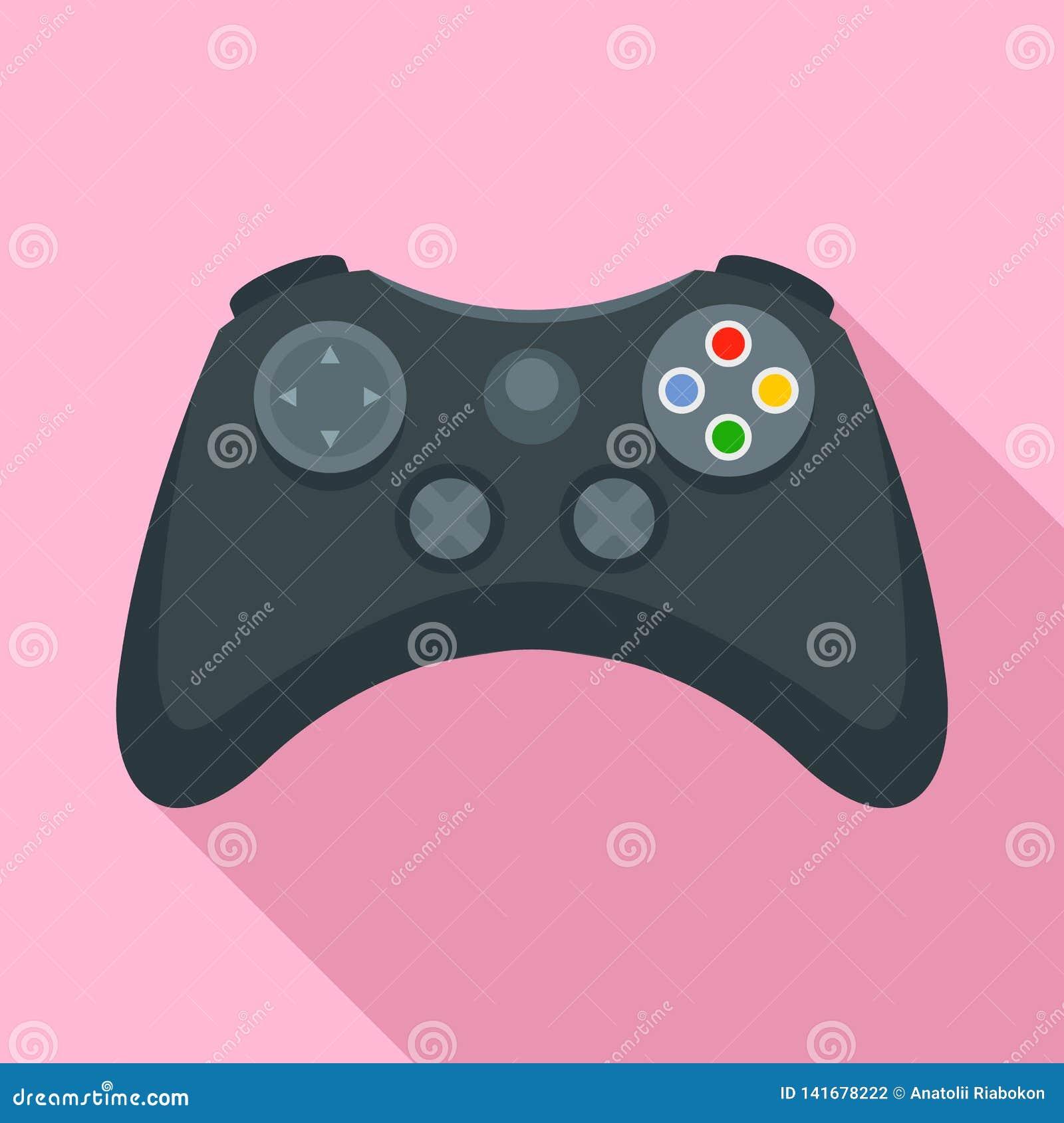 Unterhaltung gamepad Ikone, flache Art
