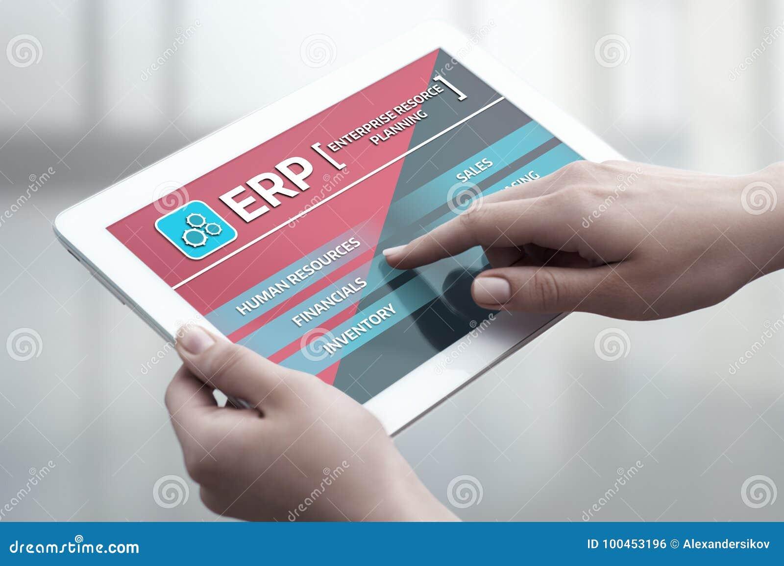 Unternehmens-Ressource, die ERP-Unternehmensgeschäftsleitungs-Geschäfts-Internet-Technologie-Konzept plant