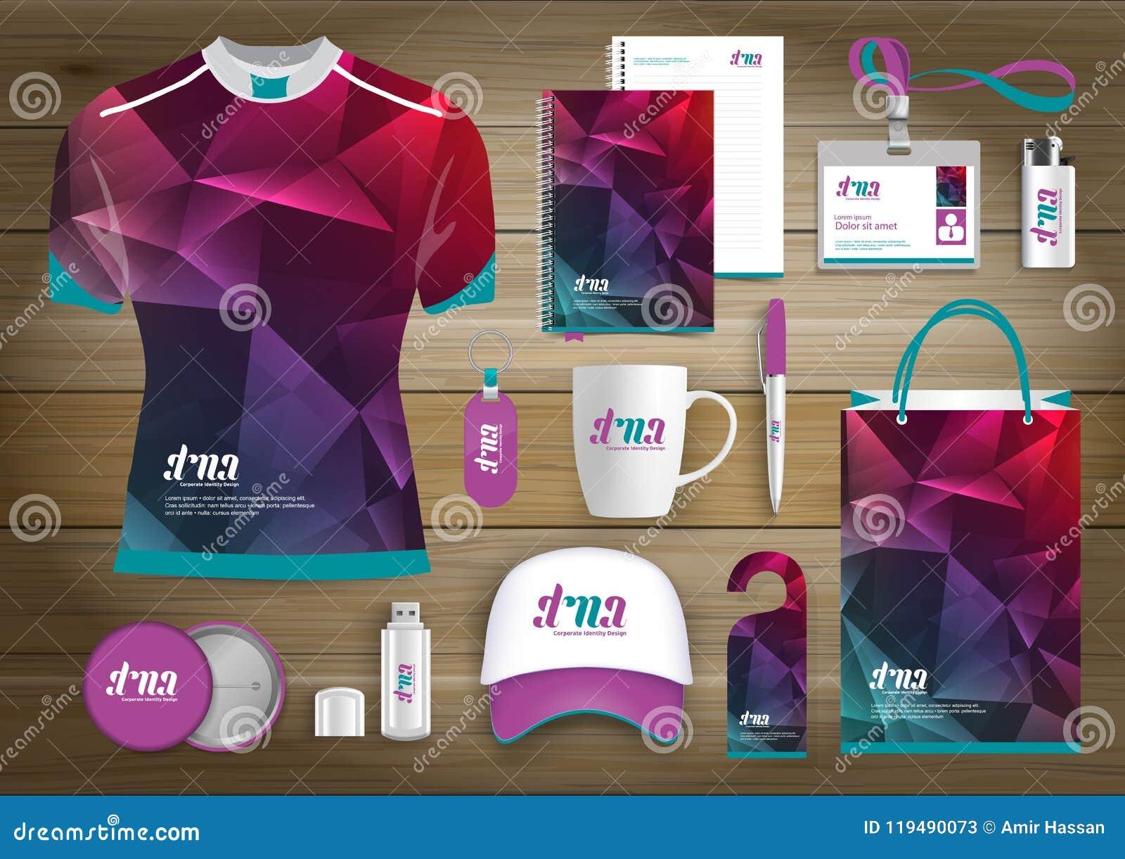 Unternehmensidentitä5 des Geschenkartikelgeschäfts, Vector abstrakte Farbe, die fördernde Andenken mit Origamielementen für diago
