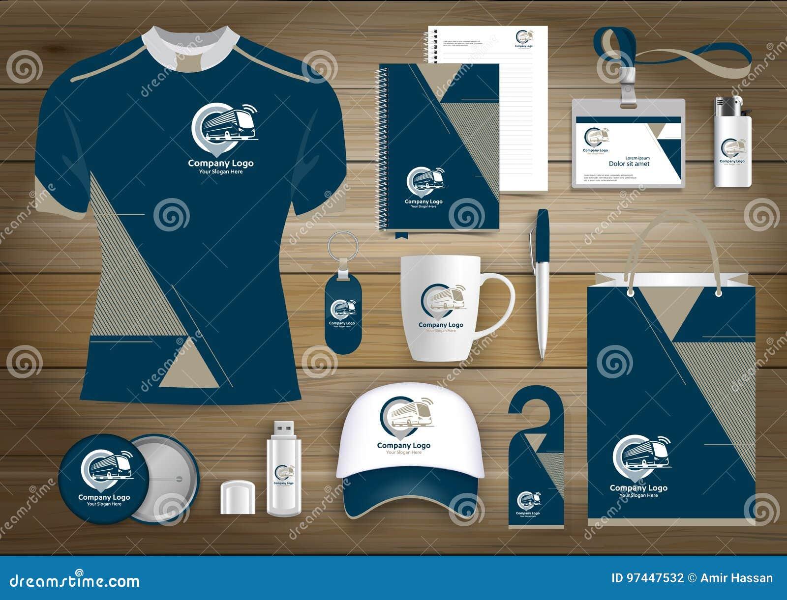 Unternehmensidentitä5 des Geschenkartikelgeschäfts, Vector abstrakte Farbe, die fördernde Andenken mit Origamielementen für Busau