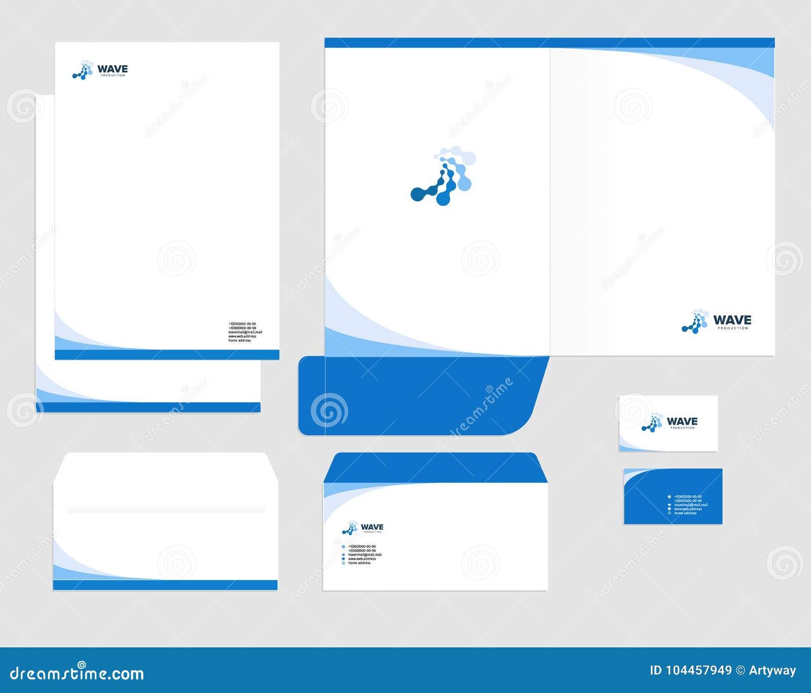 Unternehmensidentitä5sschablonendesign Sichtmarketing Marke