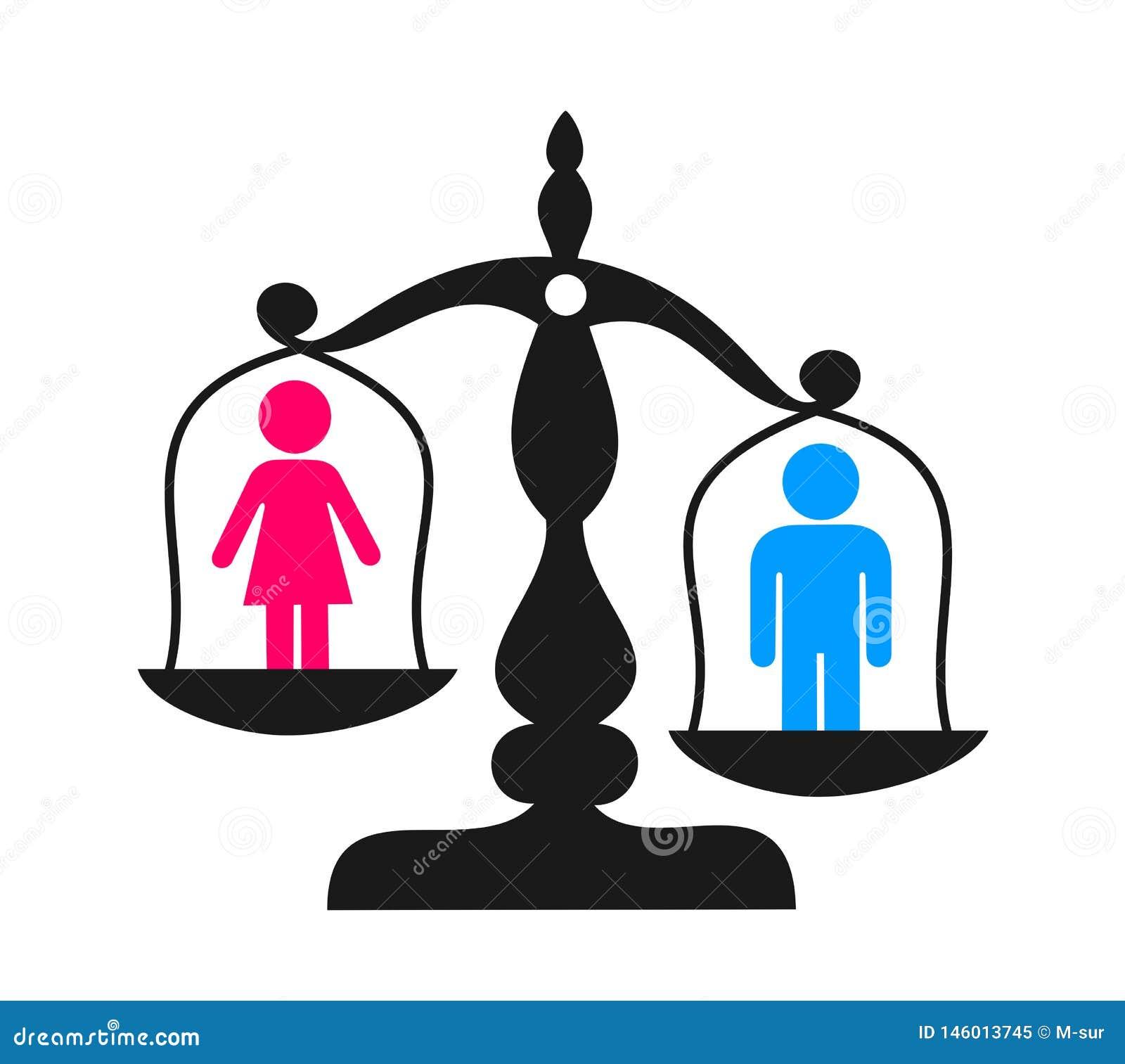 Unterscheidung und enequal Ungleichheit basiert auf Sex und Geschlecht
