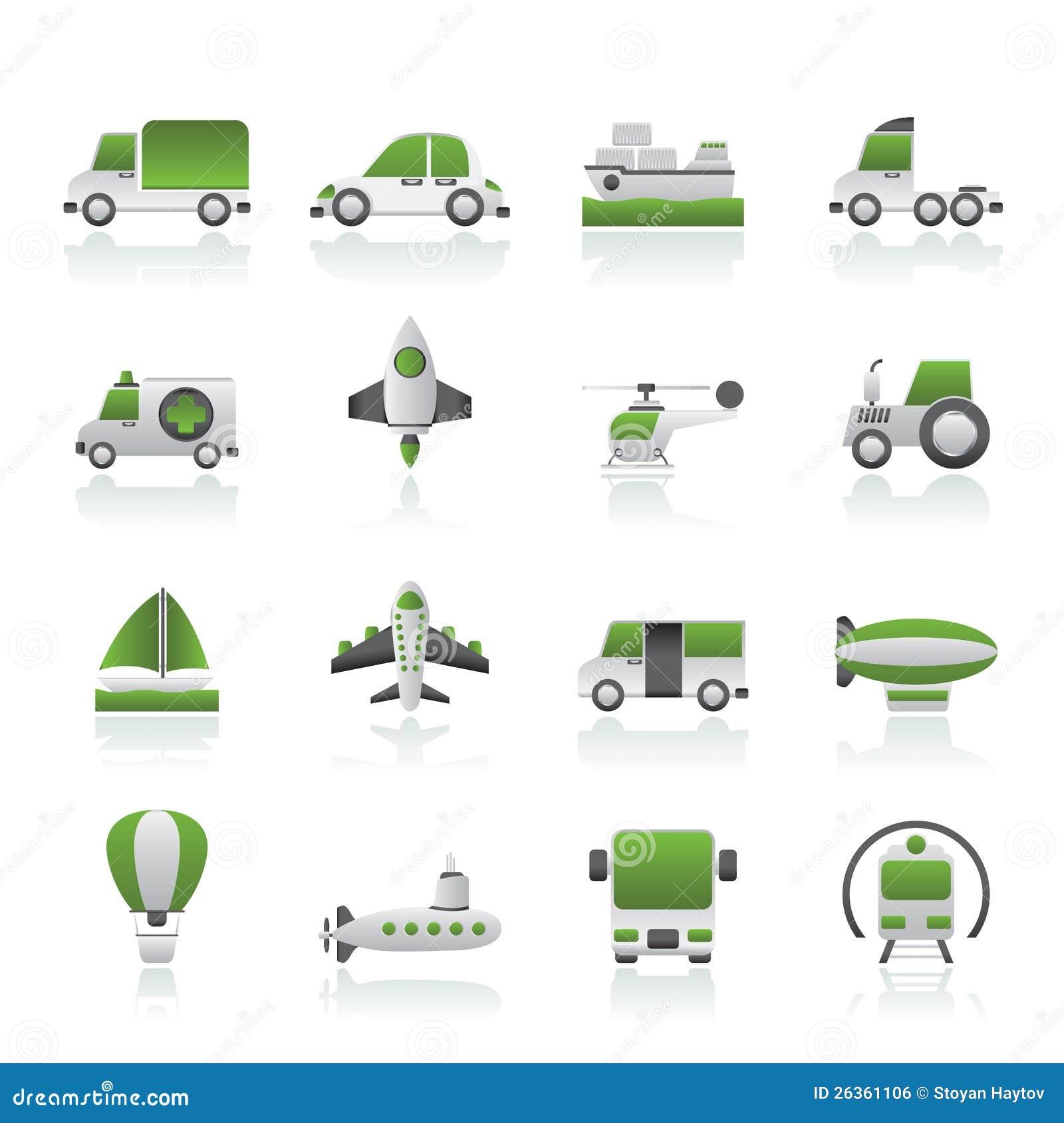 Unterschiedliche Art der Transportikonen