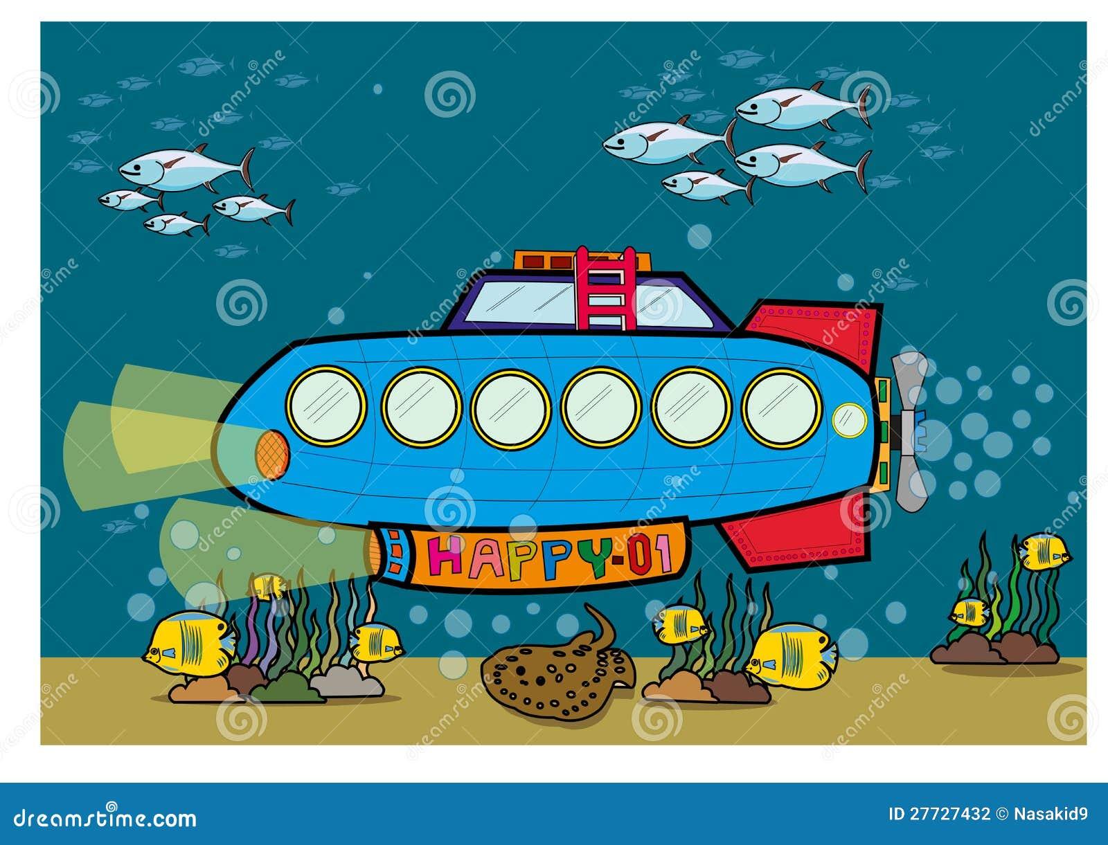 Unterseeboot unter Wasser