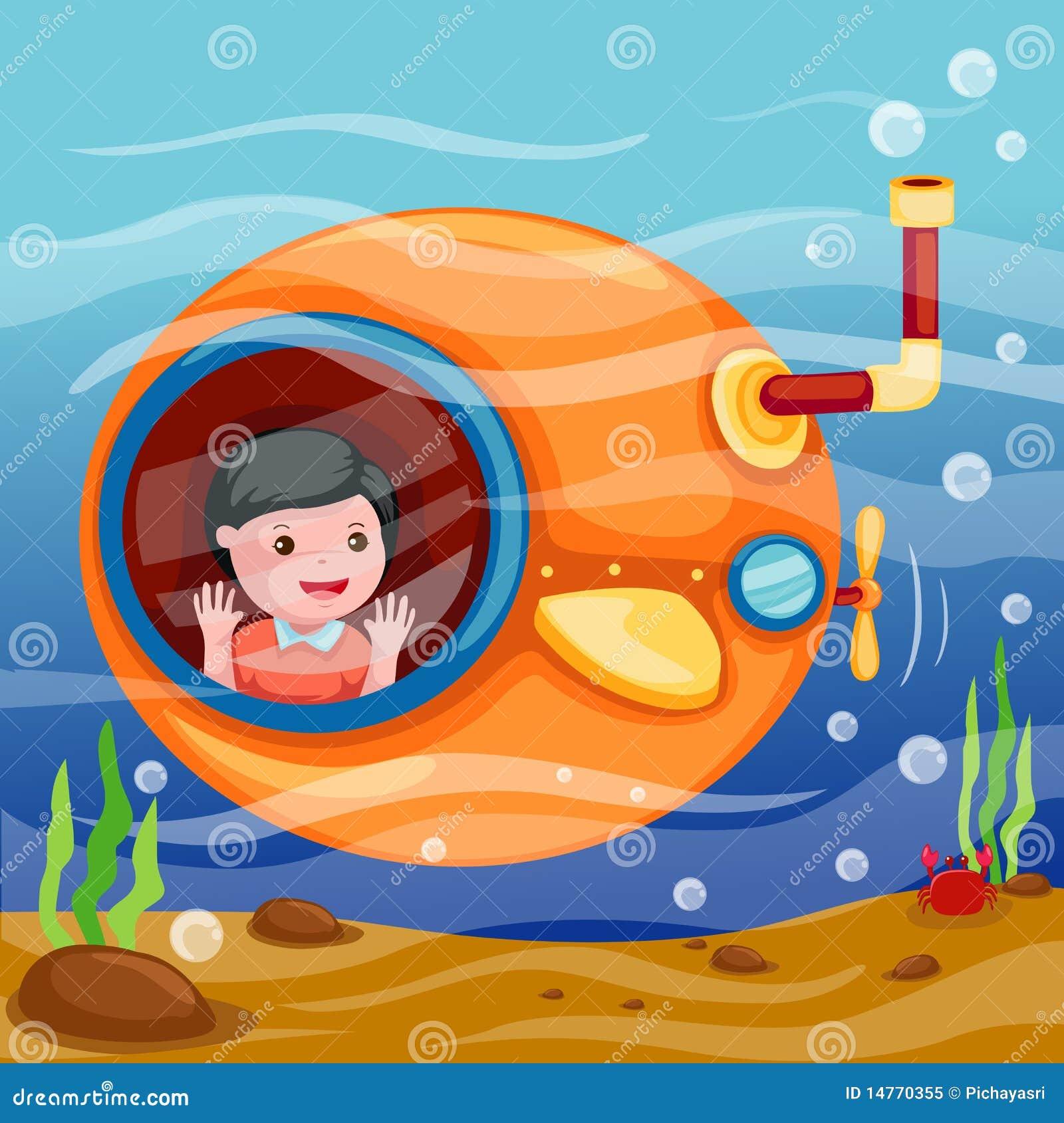 Unterseeboot Unterwasser