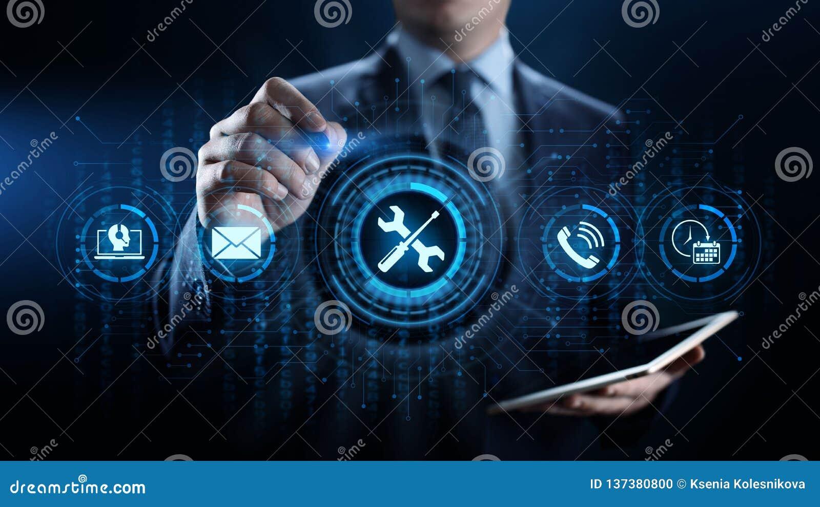 Unterstützung 24 7 Kunden-Servicequalitätsversicherung Geschäfts-Technologiekonzept