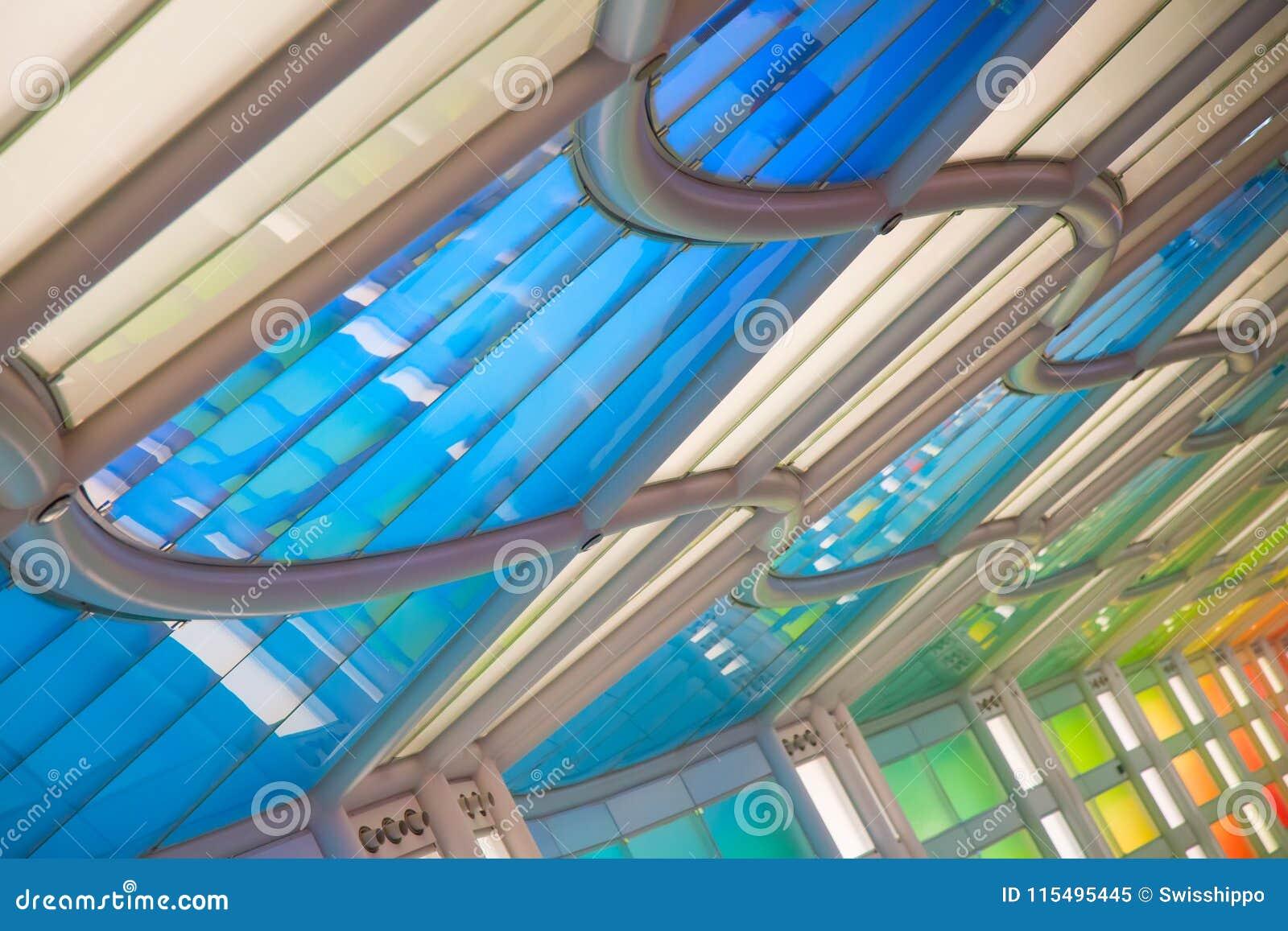 Untertagedurchgang im Flughafen Chicagos O Hare