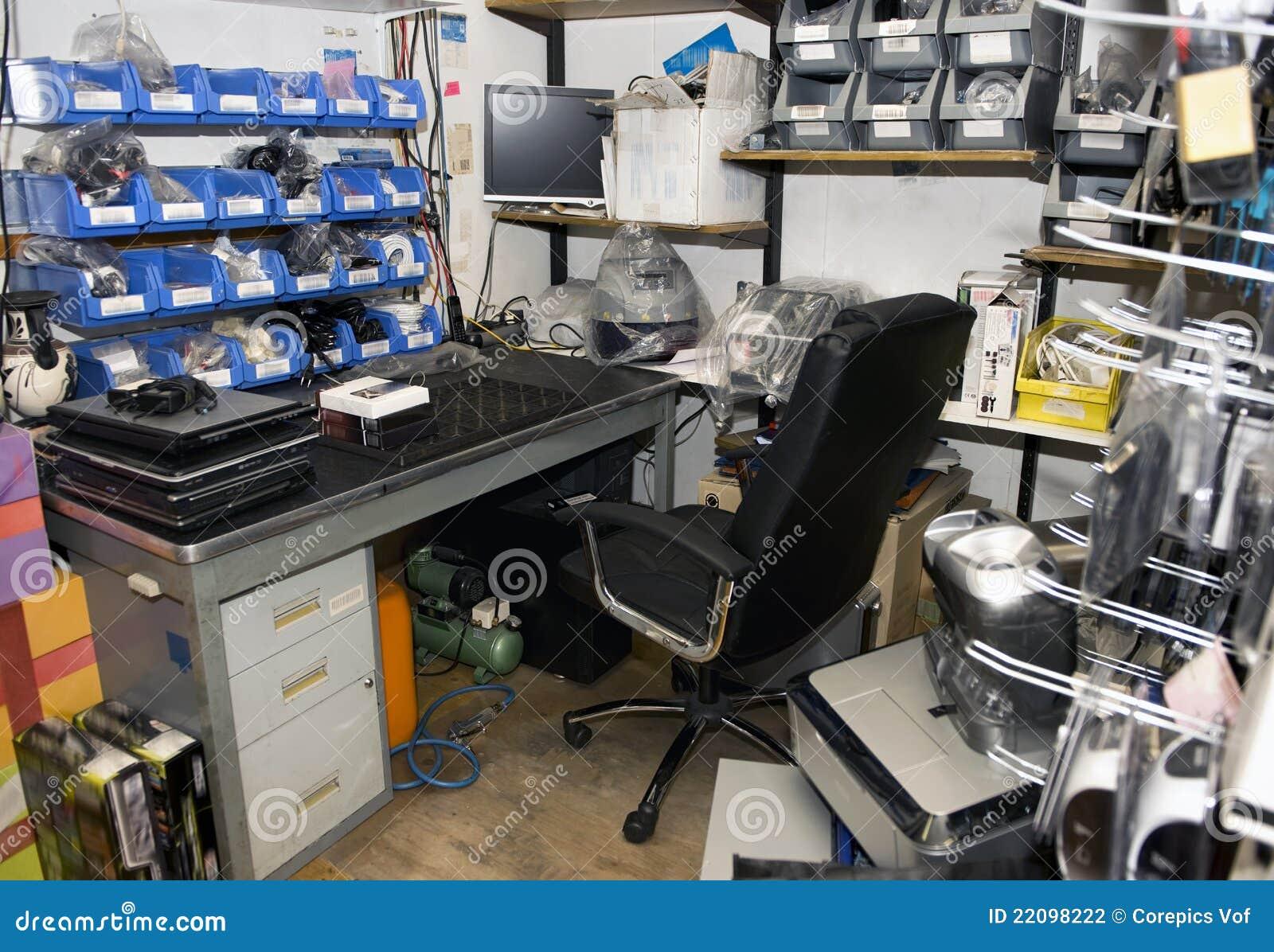 Untidy Computer Room Stock Photo Image Of Racks Spare