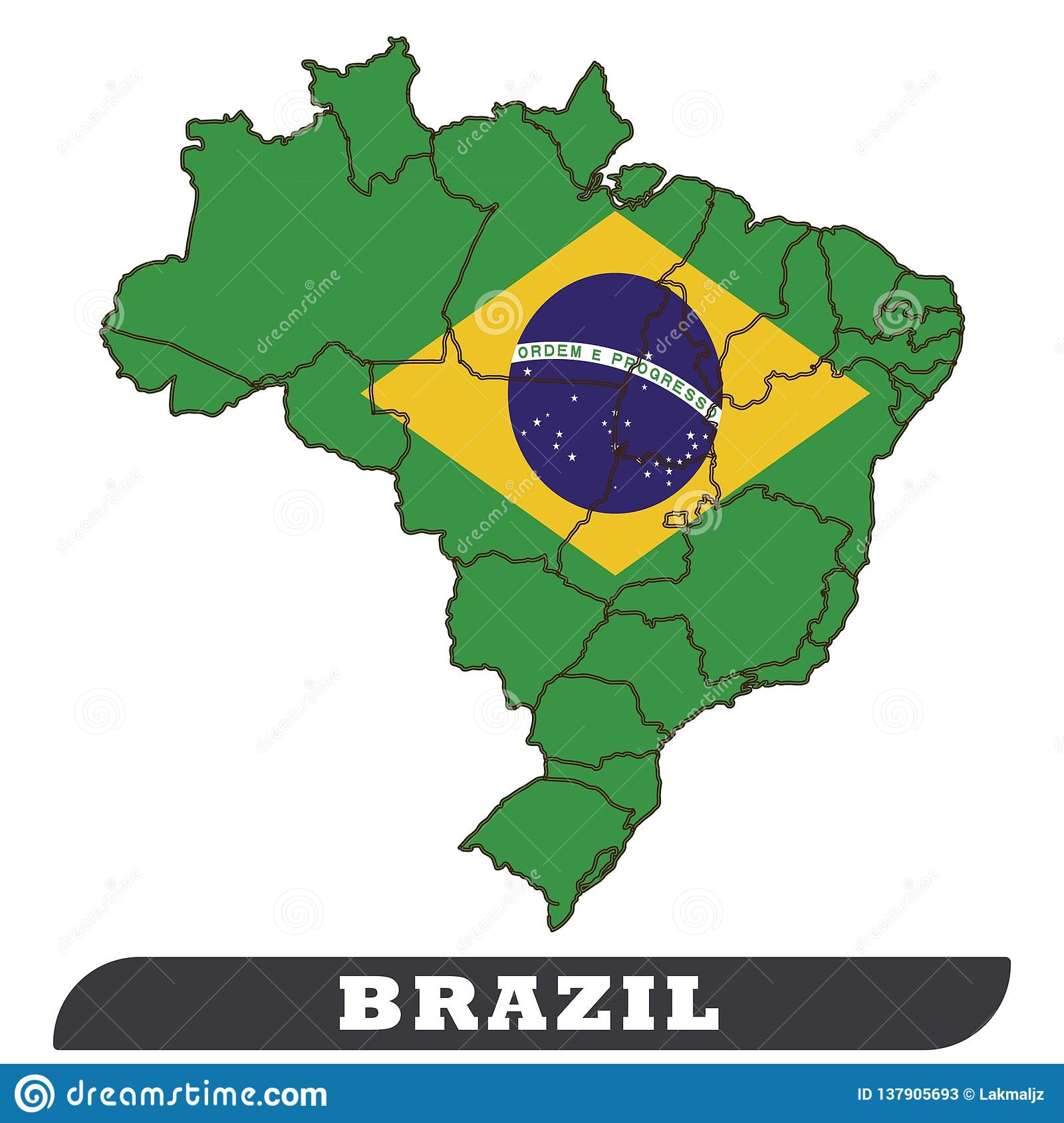 Brazil Map And Brazil Flag,Brazil Flag Use To Background ...