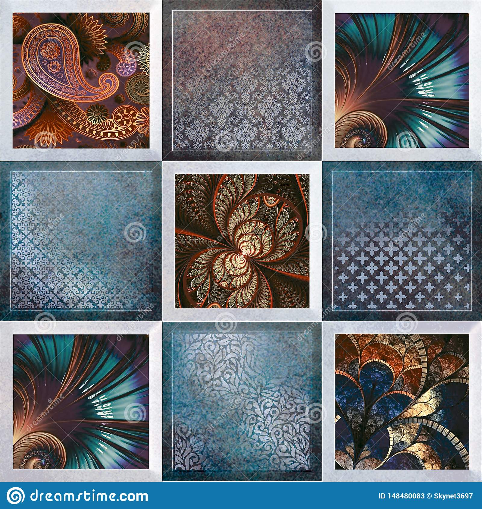 Multicolor Wall Art Decor Digital Wall Tiles Design For Home