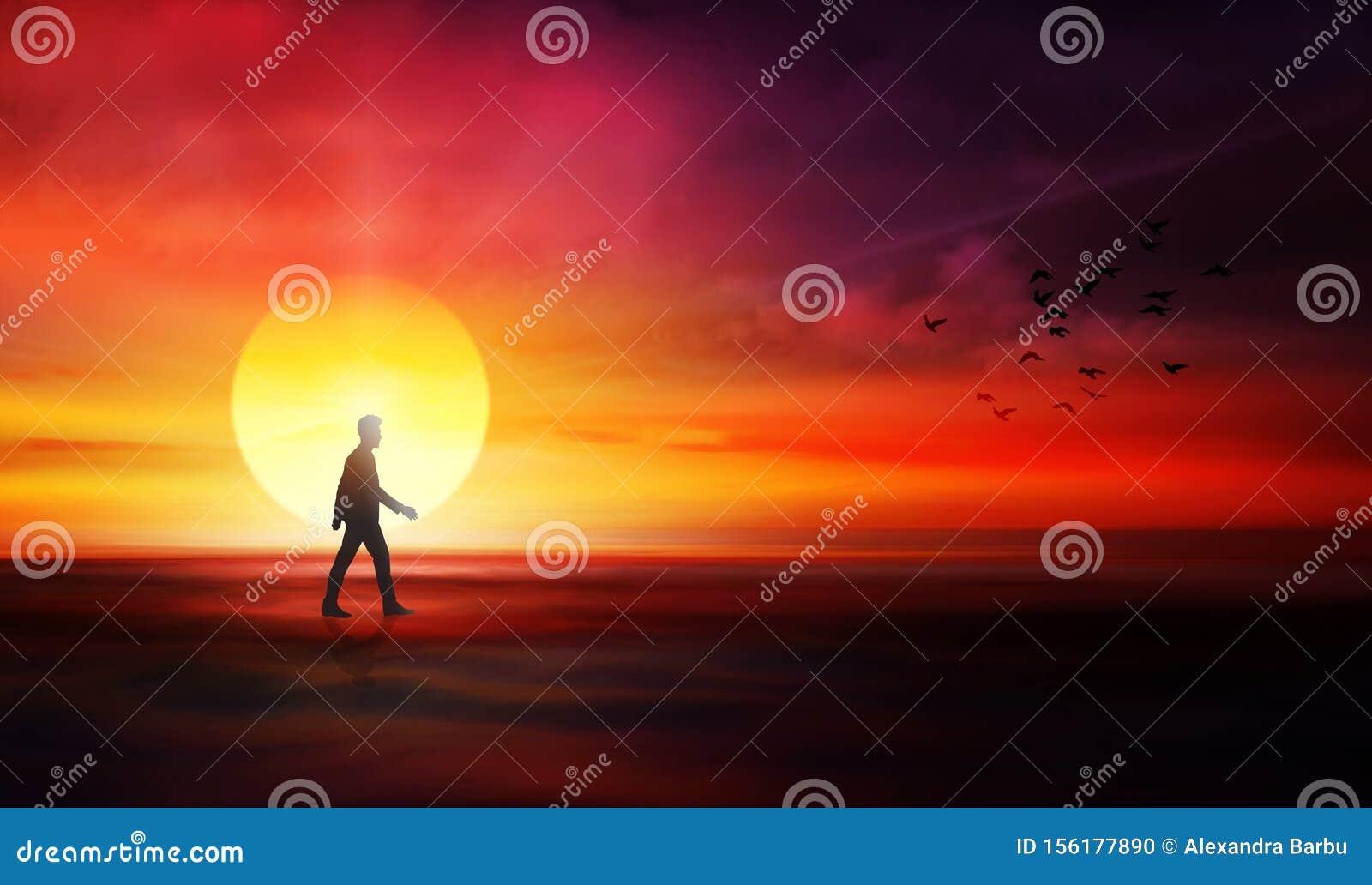 Life journey, path to unknown, destiny, rebirth