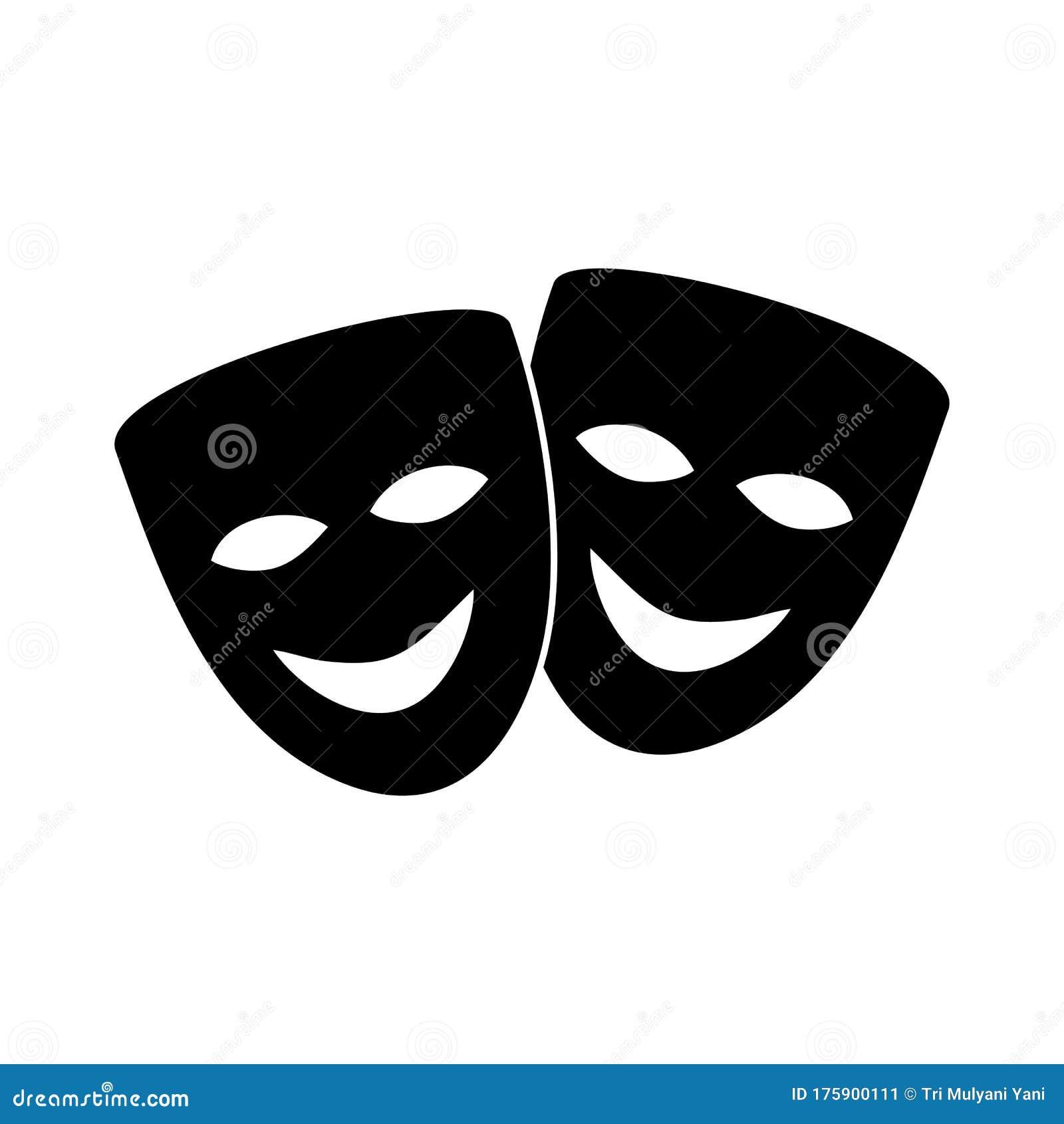 Theatre Mask Icon Vector Design Symbol Stock Vector ...