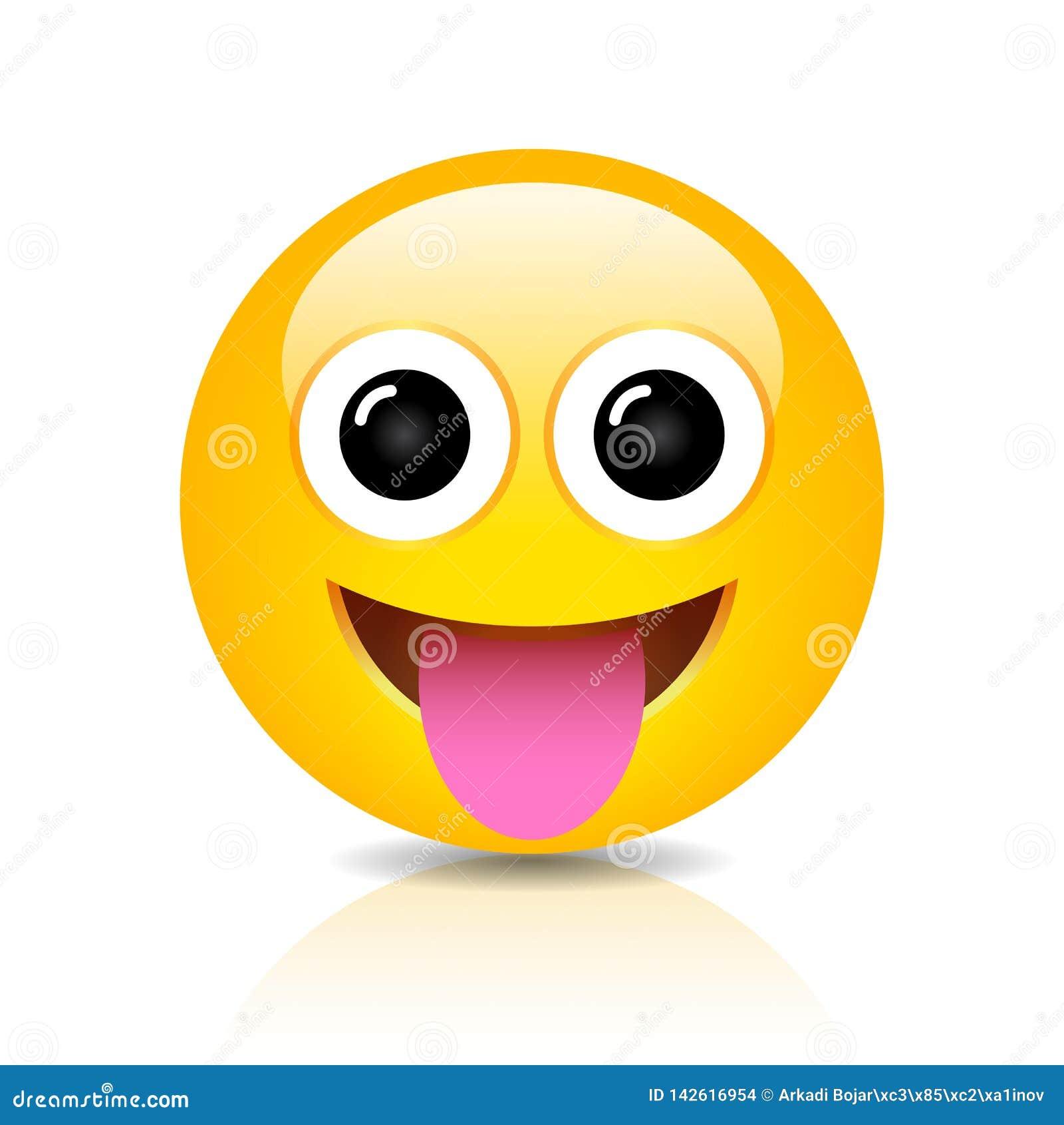 Foolish vector emoji cartoon