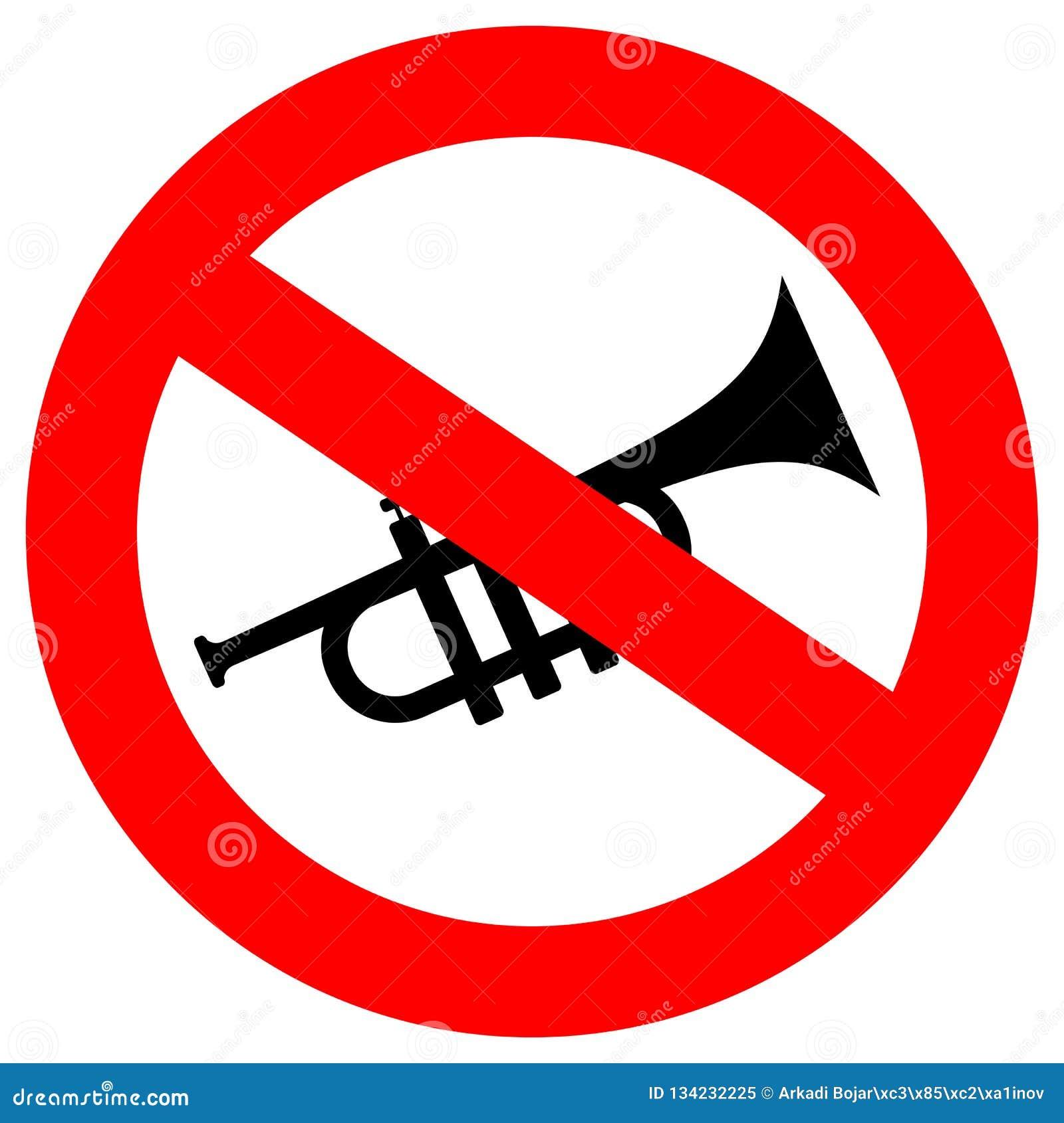 No horning vector sign