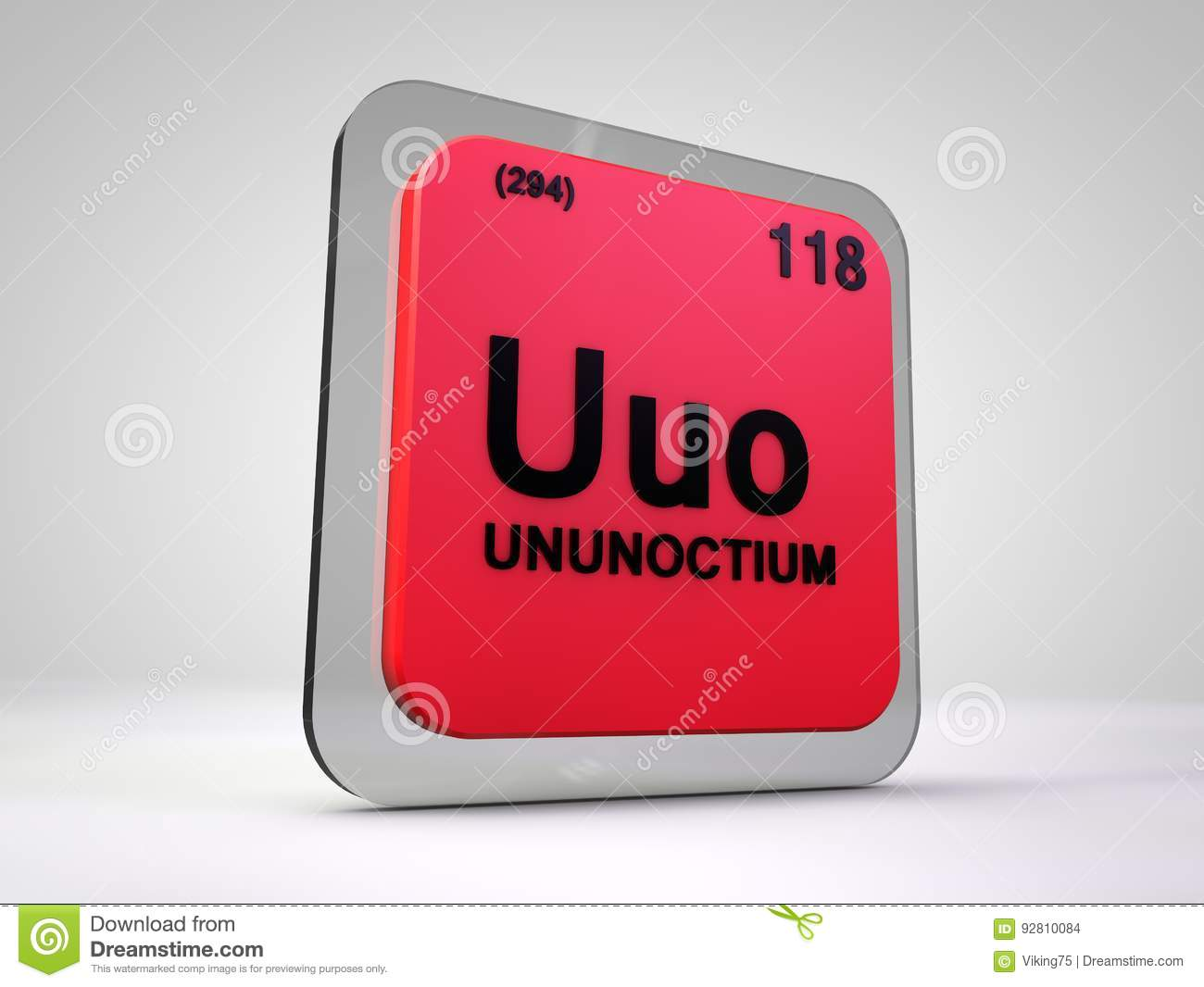Ununoctium uuo chemical element periodic table stock download comp urtaz