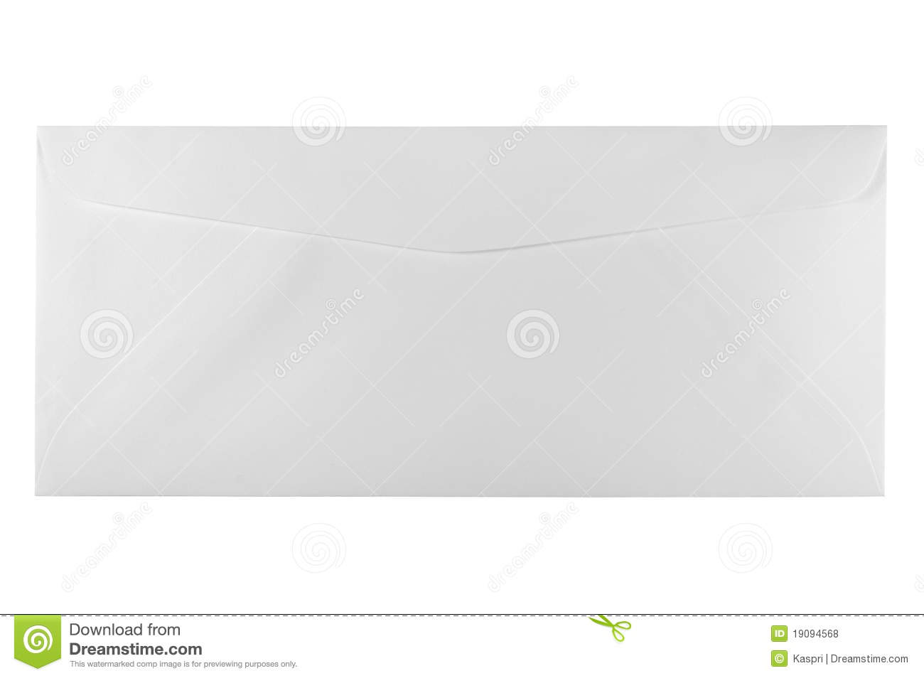 Unused White Letter Size Envelope Isolated Royalty Free Stock ...