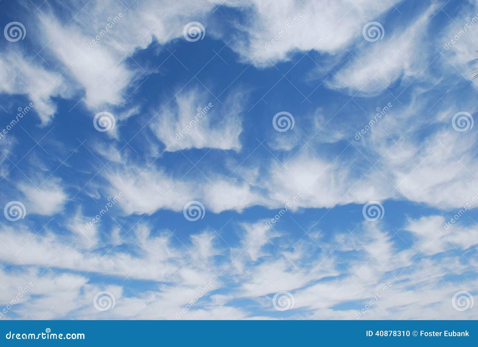 Unusual Cirrus Cloud Formation Over Las Vegas, Nevada  Stock