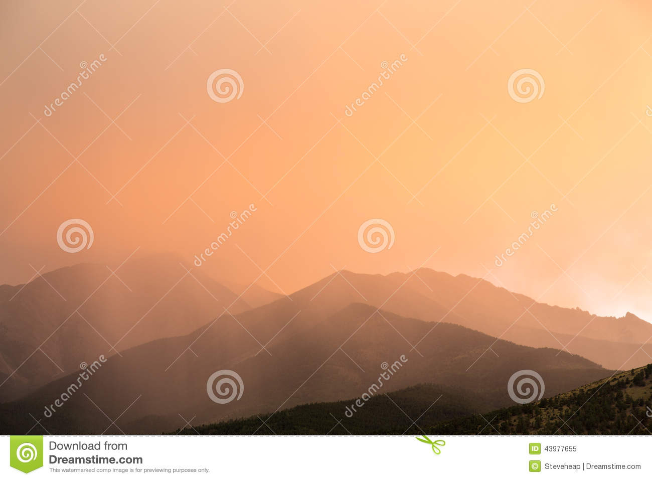 Unusual Clouds Over Mountains Of Colorado Stock Photo