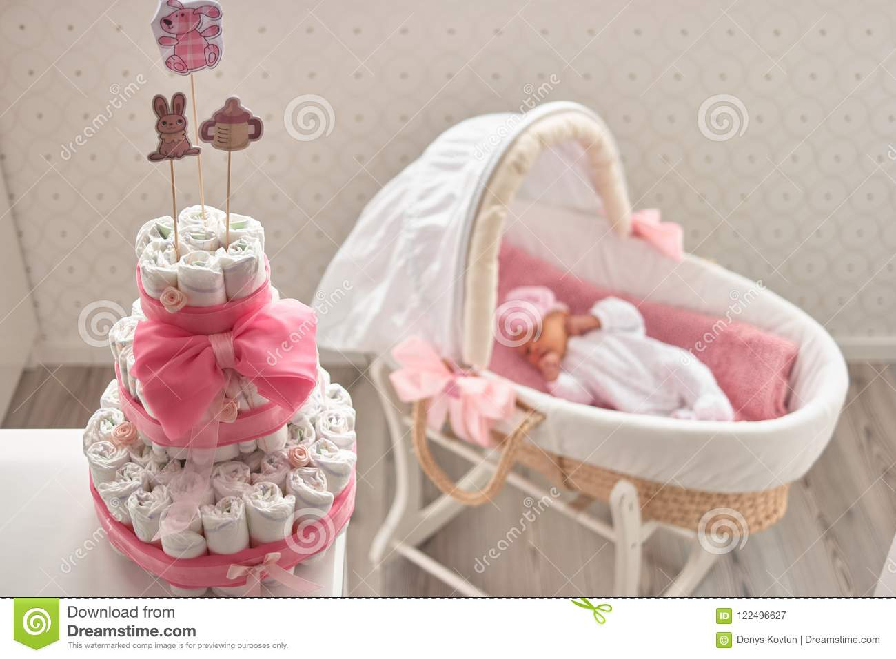 Unusual gift for baby  stock image  Image of focus, decorated