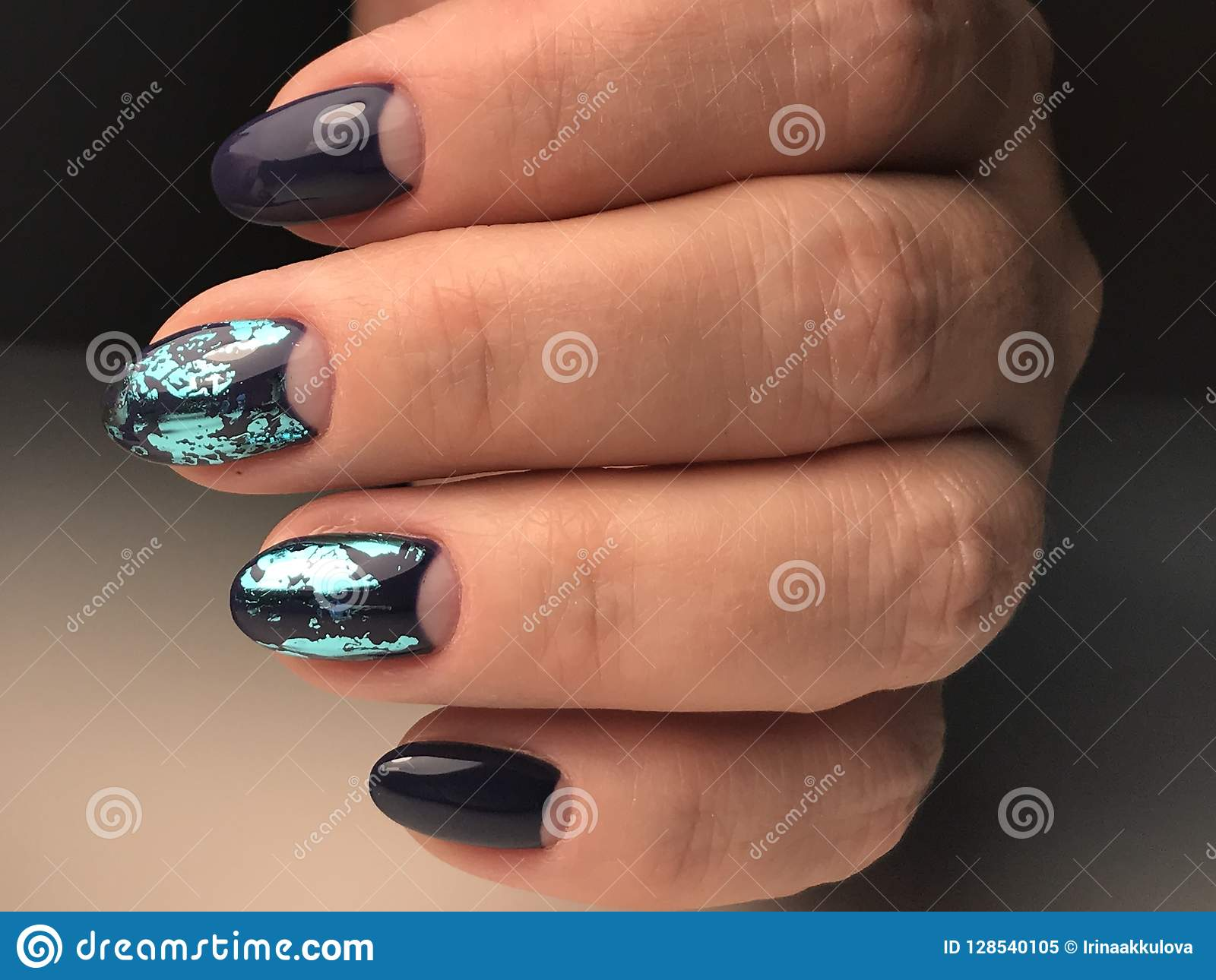 Unusual nail design stock image. Image of hands, forms - 128540105