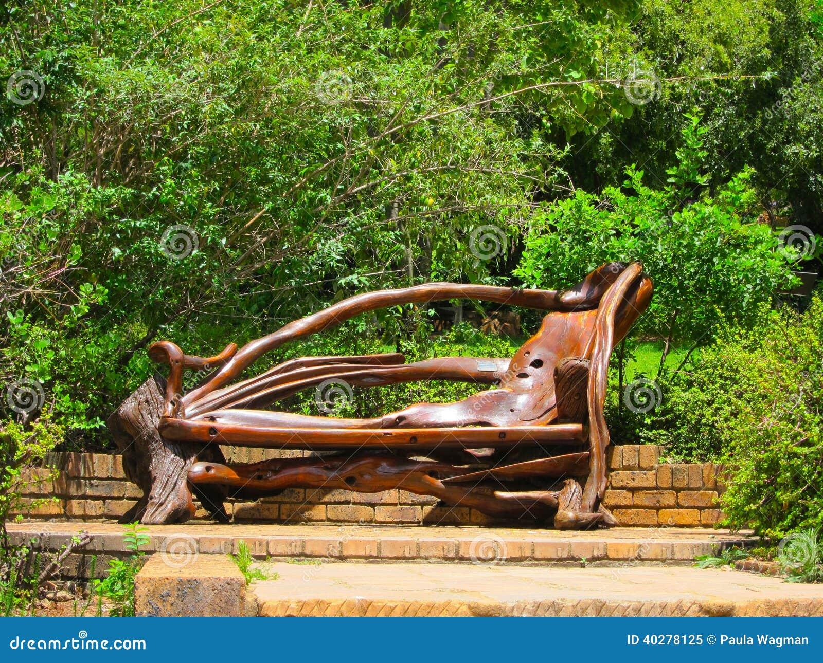 Astonishing Unusual Park Bench Stock Image Image Of Garden Unique Creativecarmelina Interior Chair Design Creativecarmelinacom