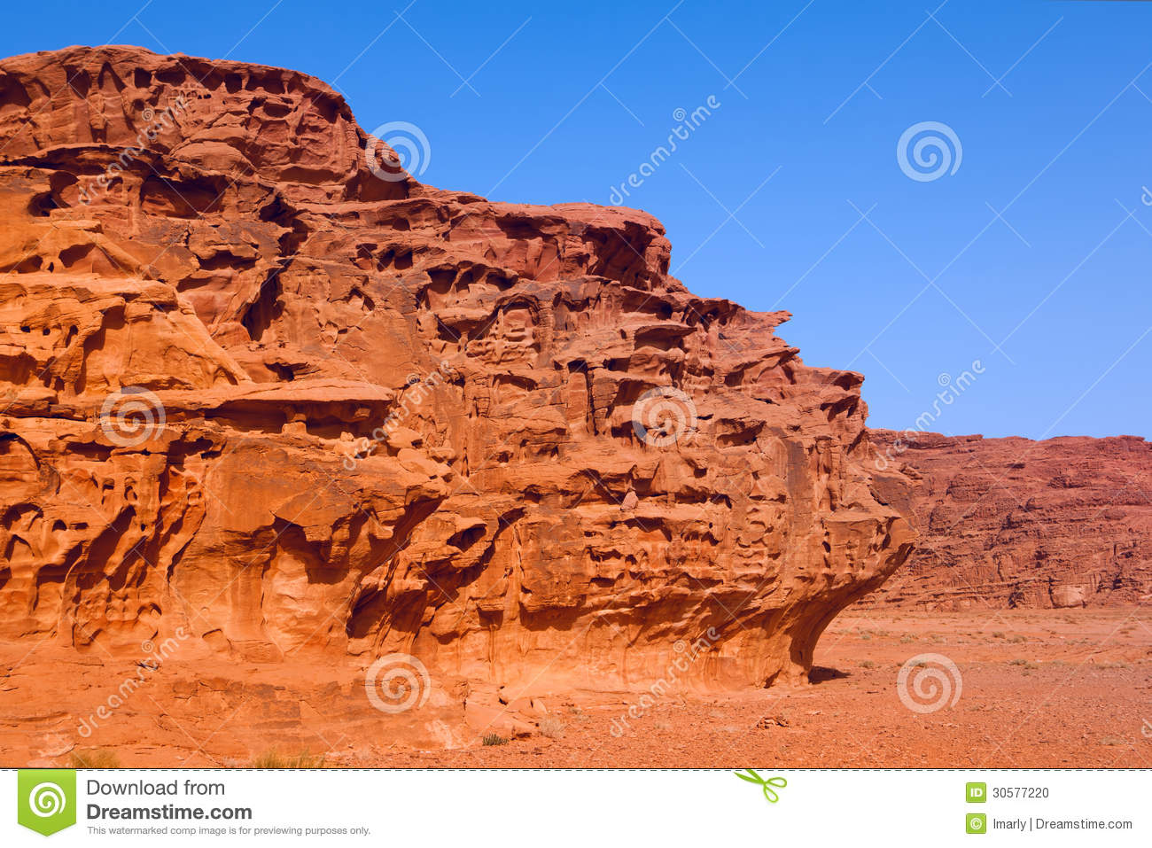 An Unusual Rock Formations In Desert Stock Photo Image