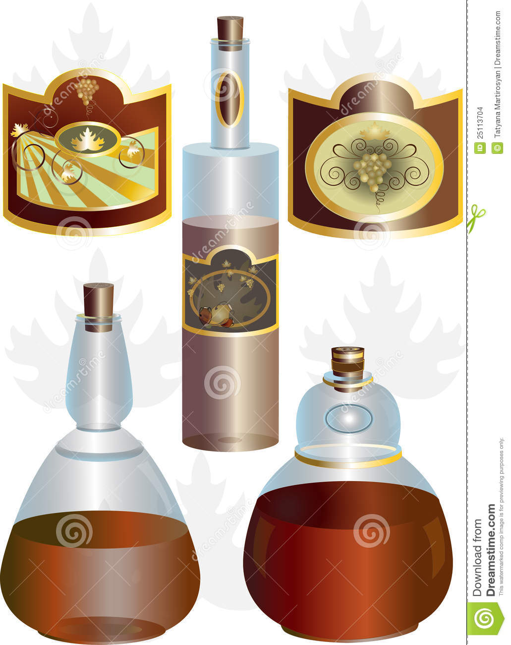 Unusual shape of bottles and labels stock images image for Interesting bottle shapes