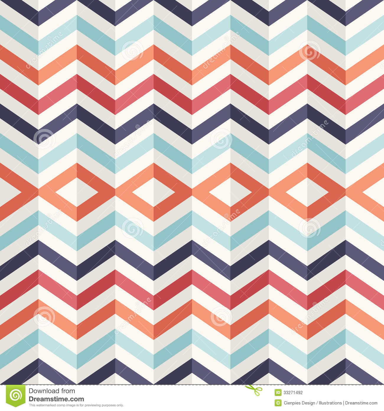 unusual vintage 3d effect abstract geometric pattern