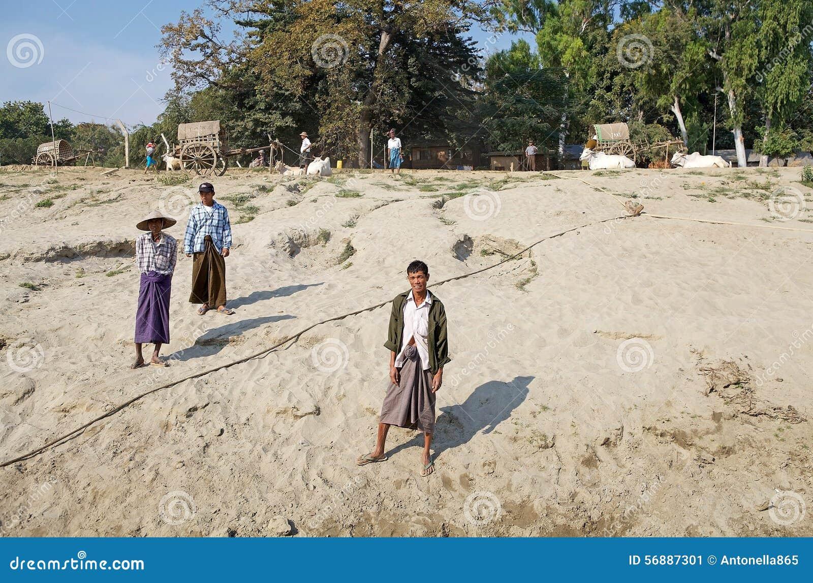 Uomini birmani Myanmar