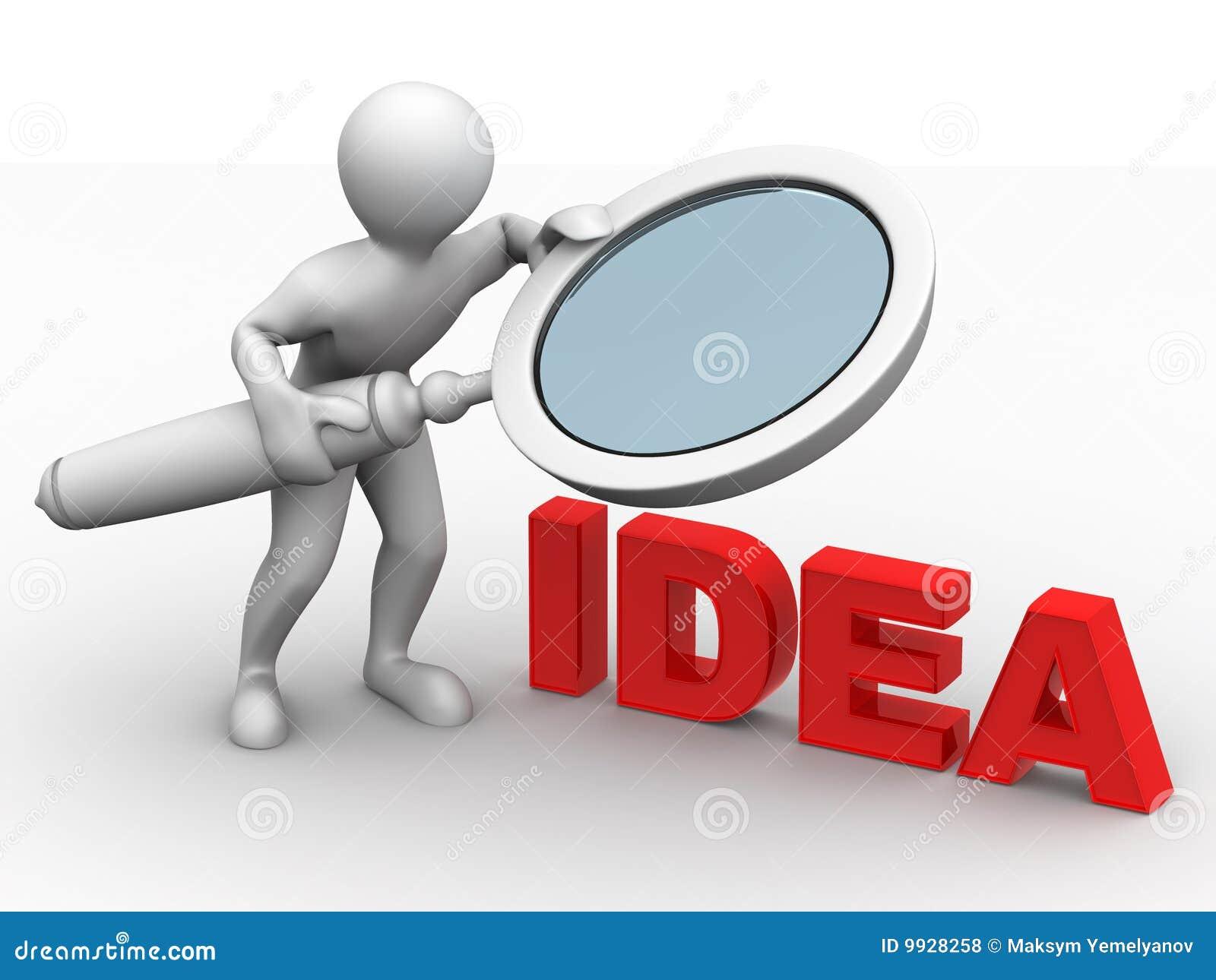 Uomini con la lente di ingrandimento idea illustrazione di stock illustrazione di uomini - Specchio con lente di ingrandimento ...