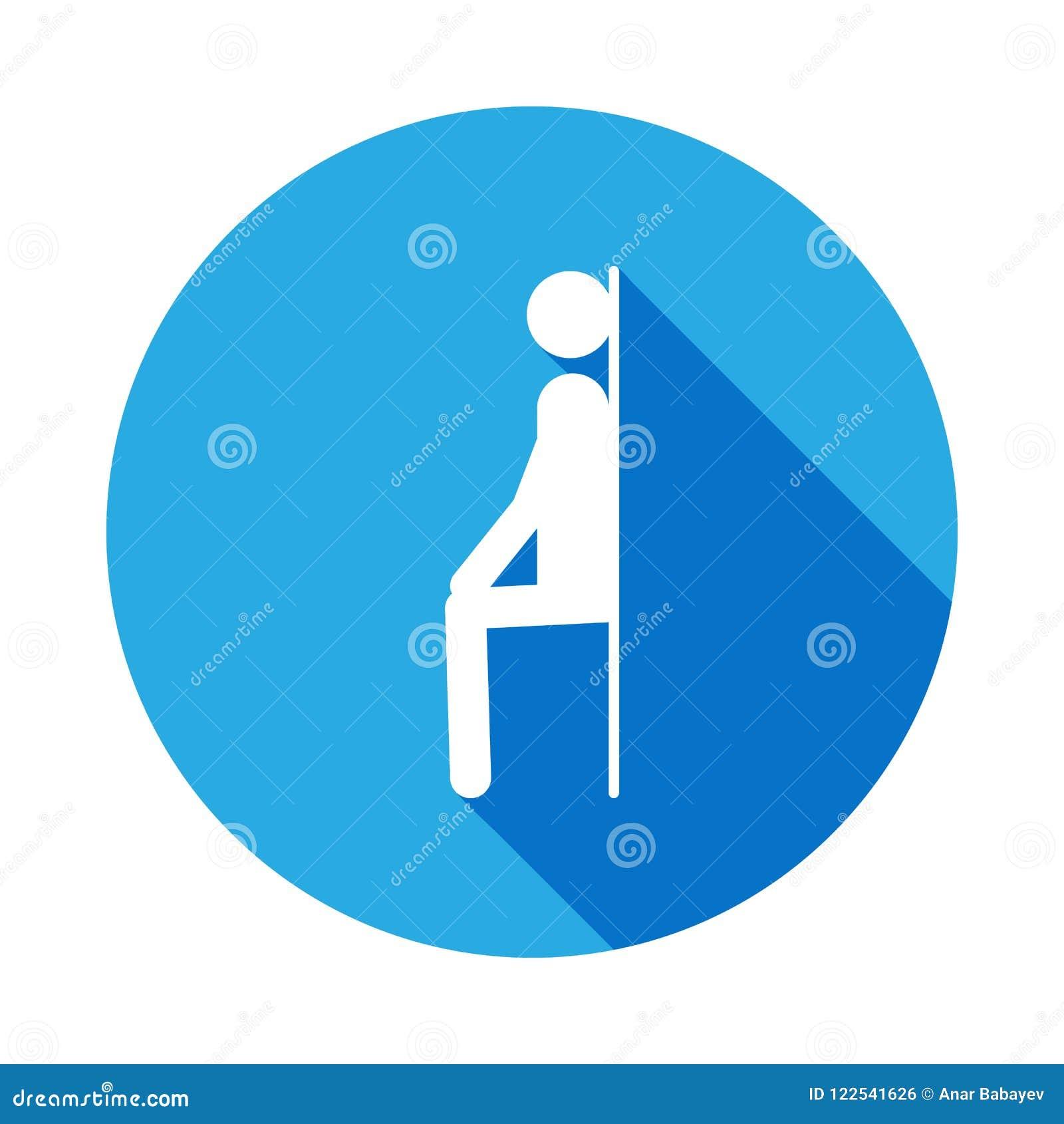 Uomo all icona della parete con ombra lunga Elemento dell icona di sport con ombra lunga Segni ed icona per i siti Web, web della