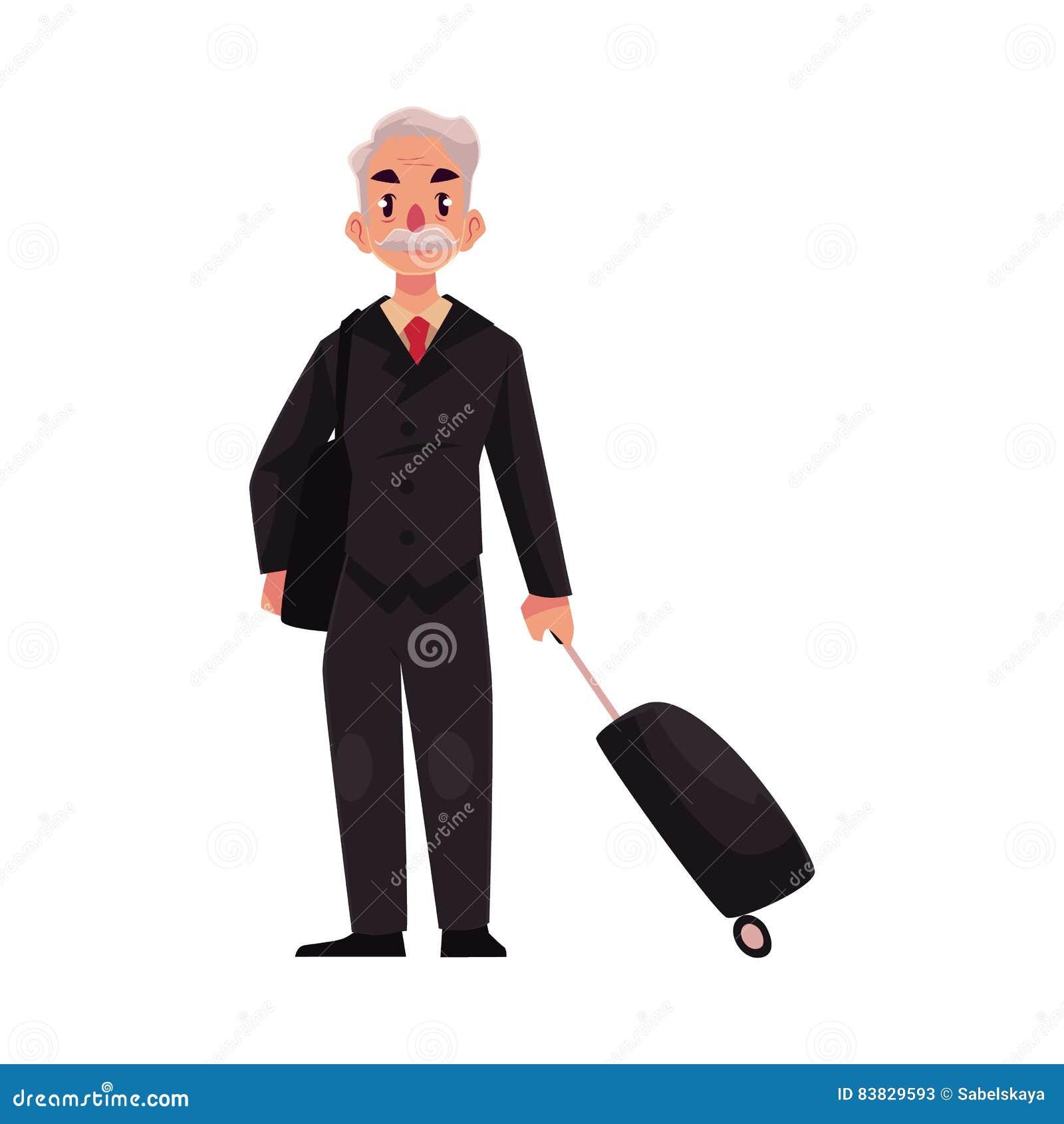 Risultati immagini per immagini anziano docente con valigia