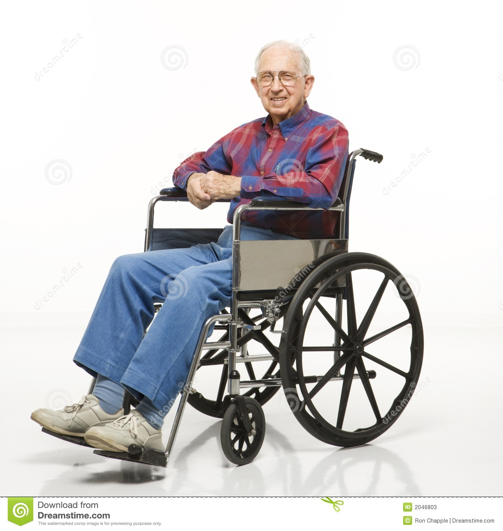 Uomo Anziano In Sedia A Rotelle Immagine Stock Immagine