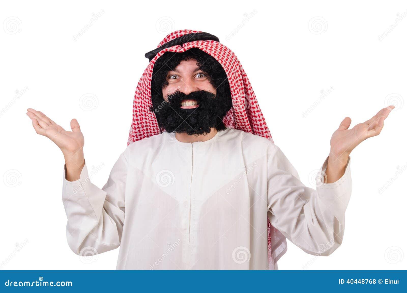 Uomo arabo divertente