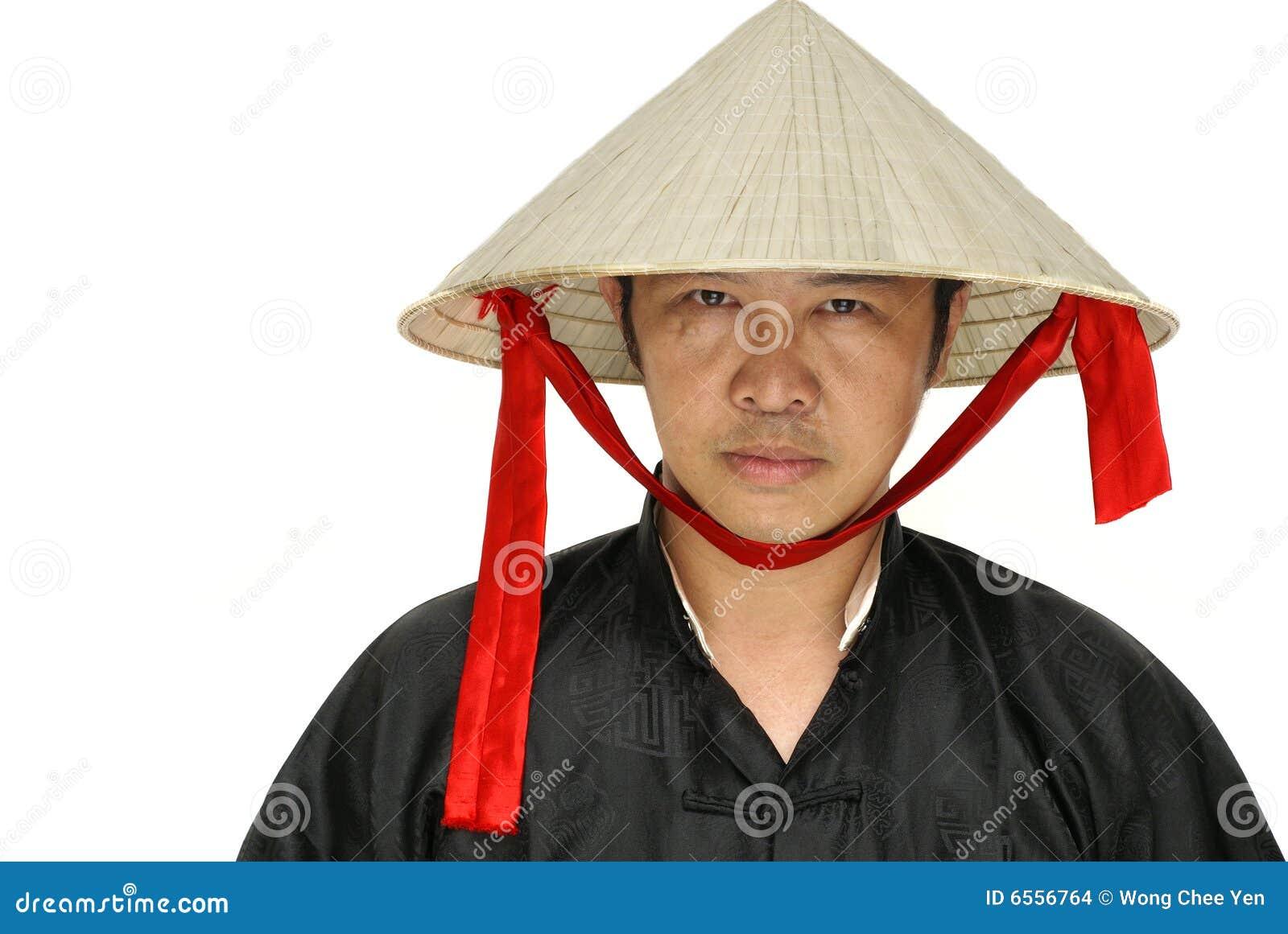 Il Vietnam Del Uomo Fotografia Stock Cappello Con Asiatico XggCT