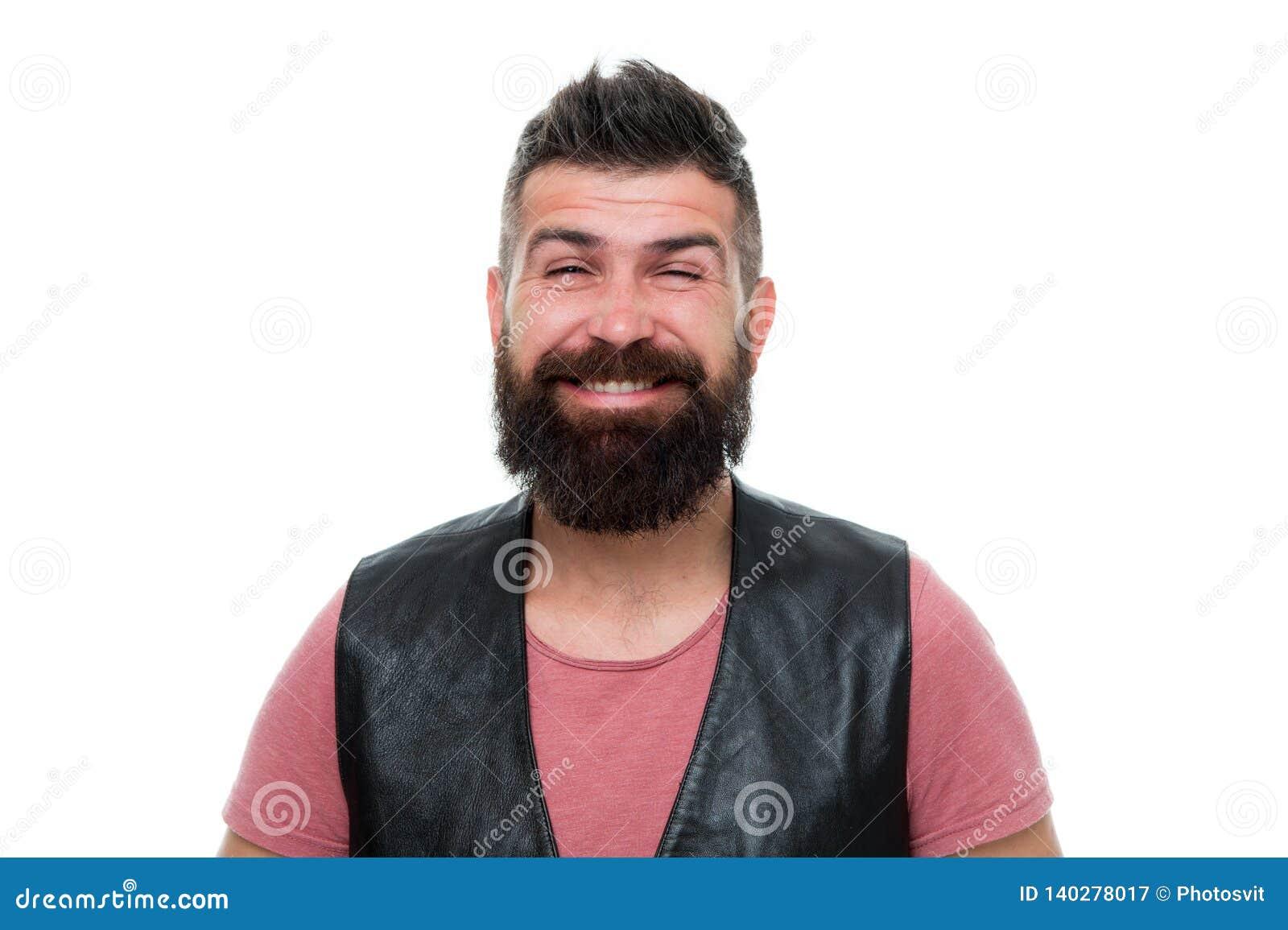 Uomo Barbuto Ritenere Fresco Dopo La Rasatura Cura Della ...