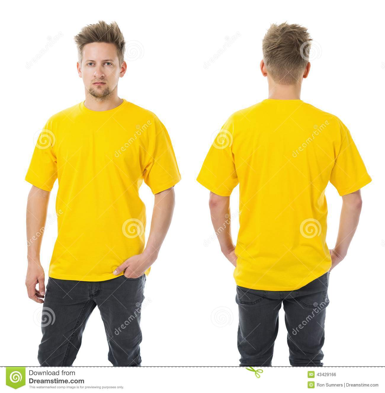 Yellow Men Jeans