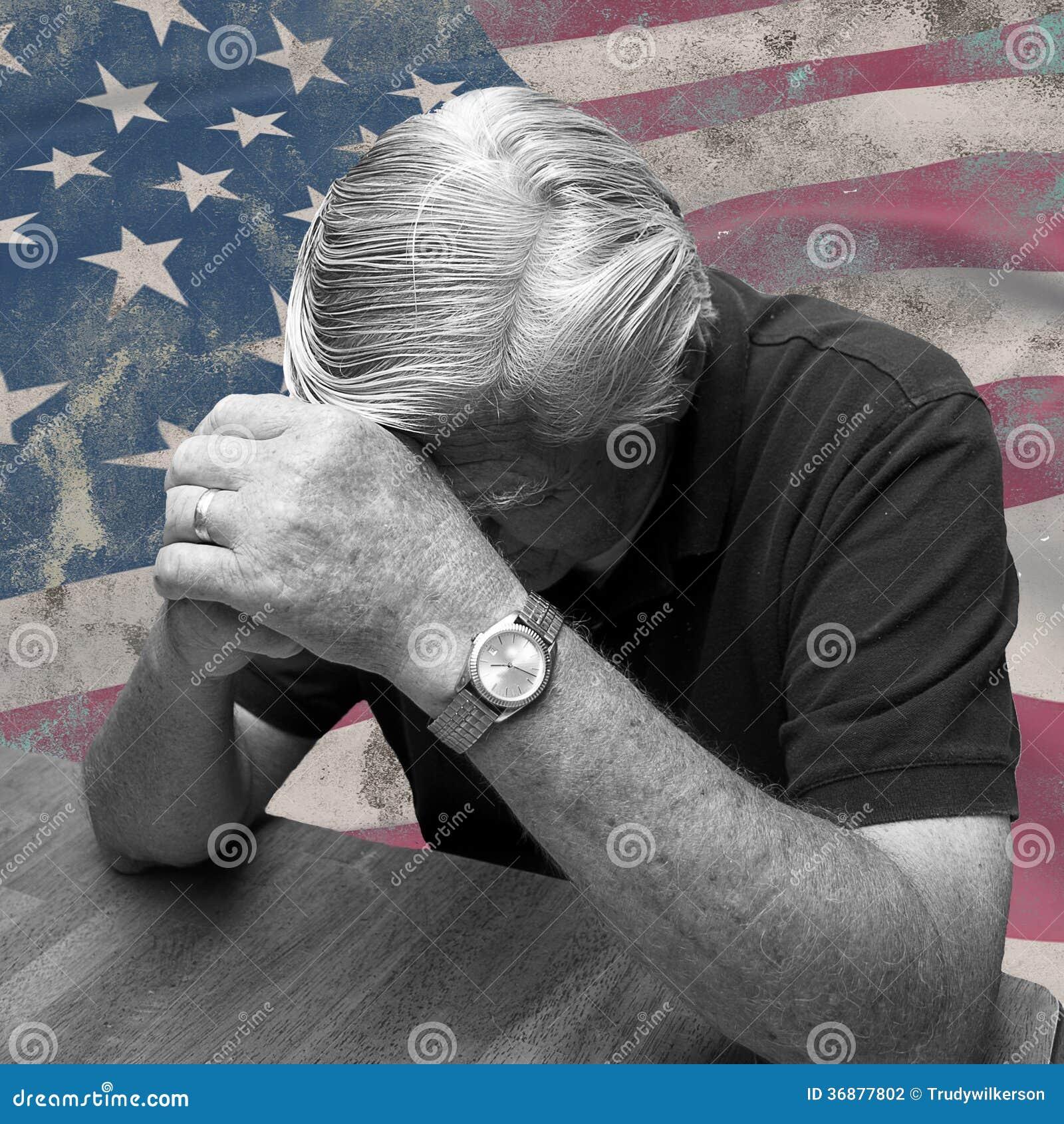 Download Uomo Che Prega Per L'America Fotografia Stock - Immagine di religione, persona: 36877802