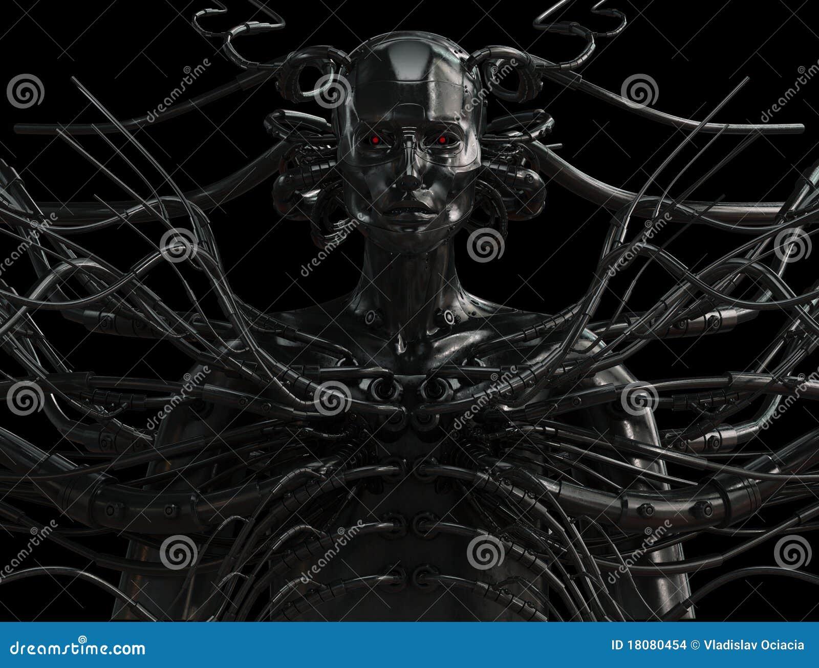 Uomo collegato alla moda di cyber