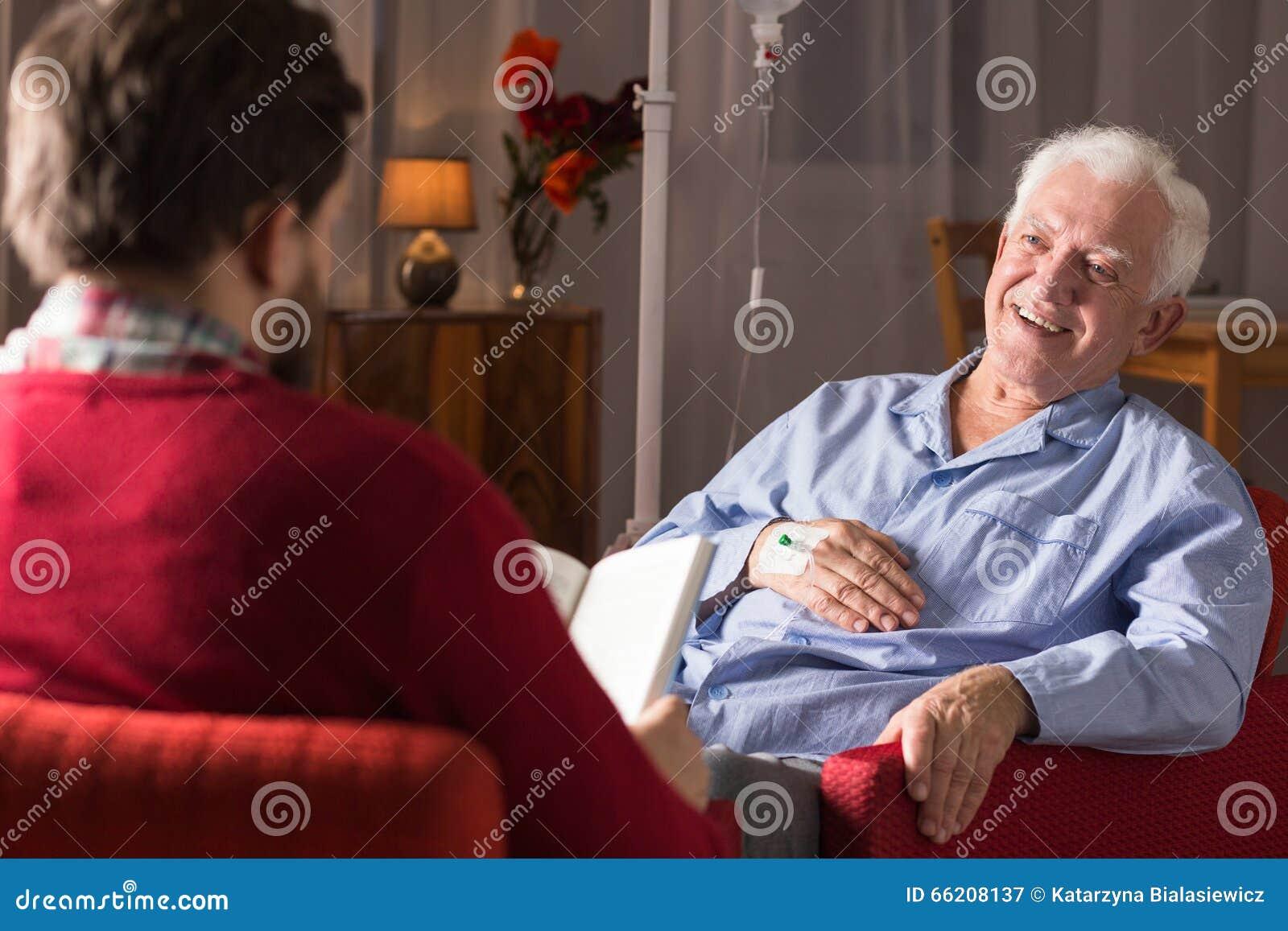 Uomo con demenza senile