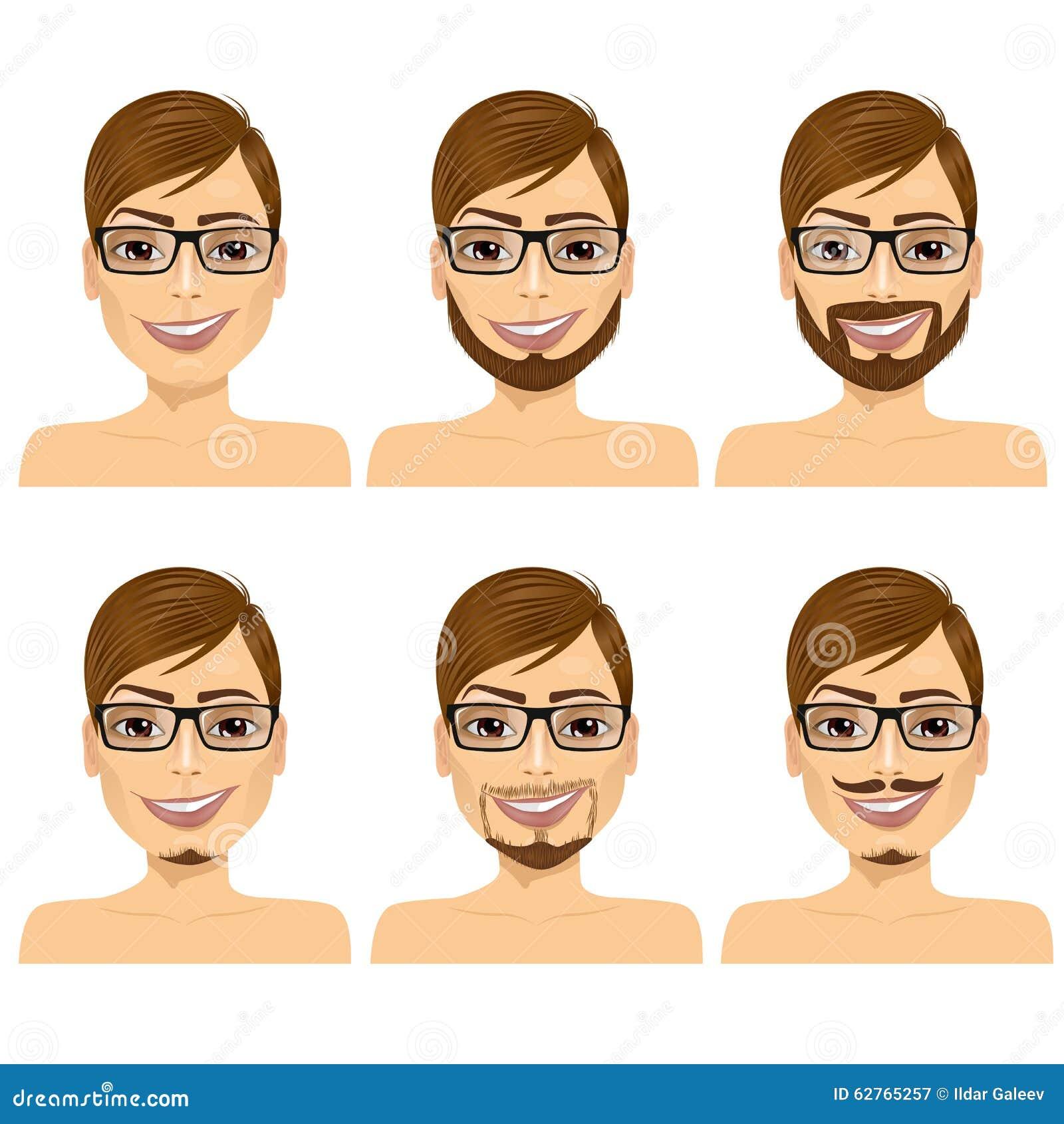 Assez Stili della barba illustrazione di stock. Immagine di rasatura  ES64